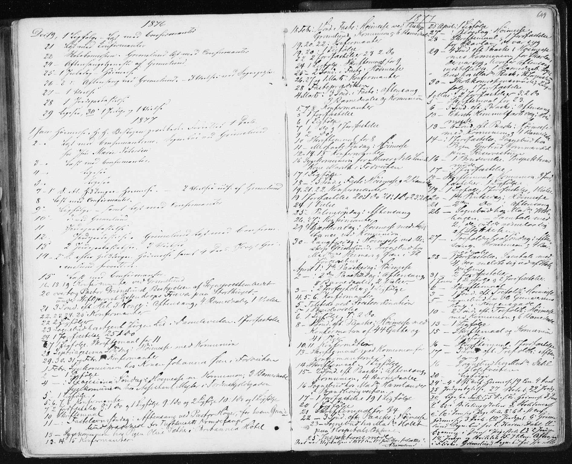 SAT, Ministerialprotokoller, klokkerbøker og fødselsregistre - Sør-Trøndelag, 601/L0055: Ministerialbok nr. 601A23, 1866-1877, s. 649