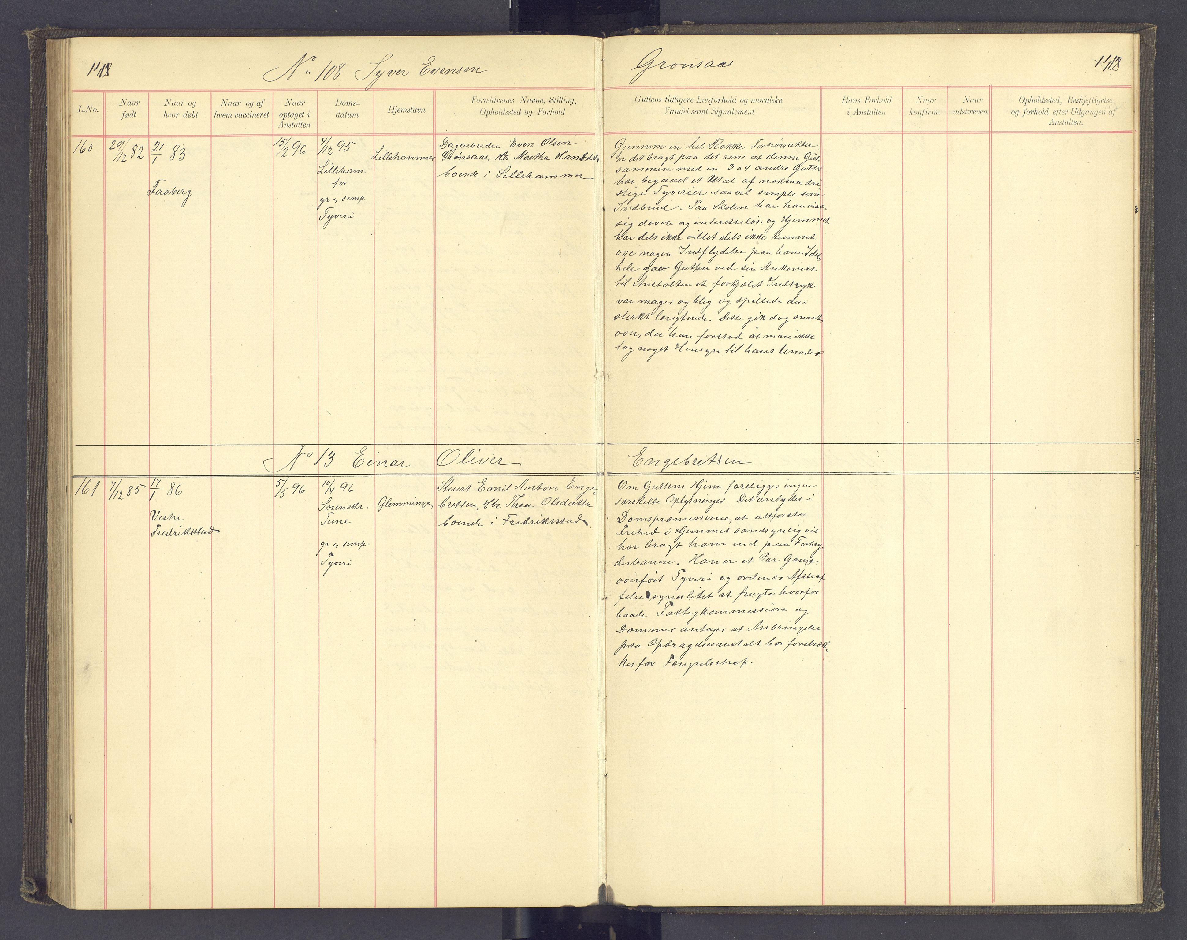SAH, Toftes Gave, F/Fc/L0003: Elevprotokoll, 1886-1897, s. 141