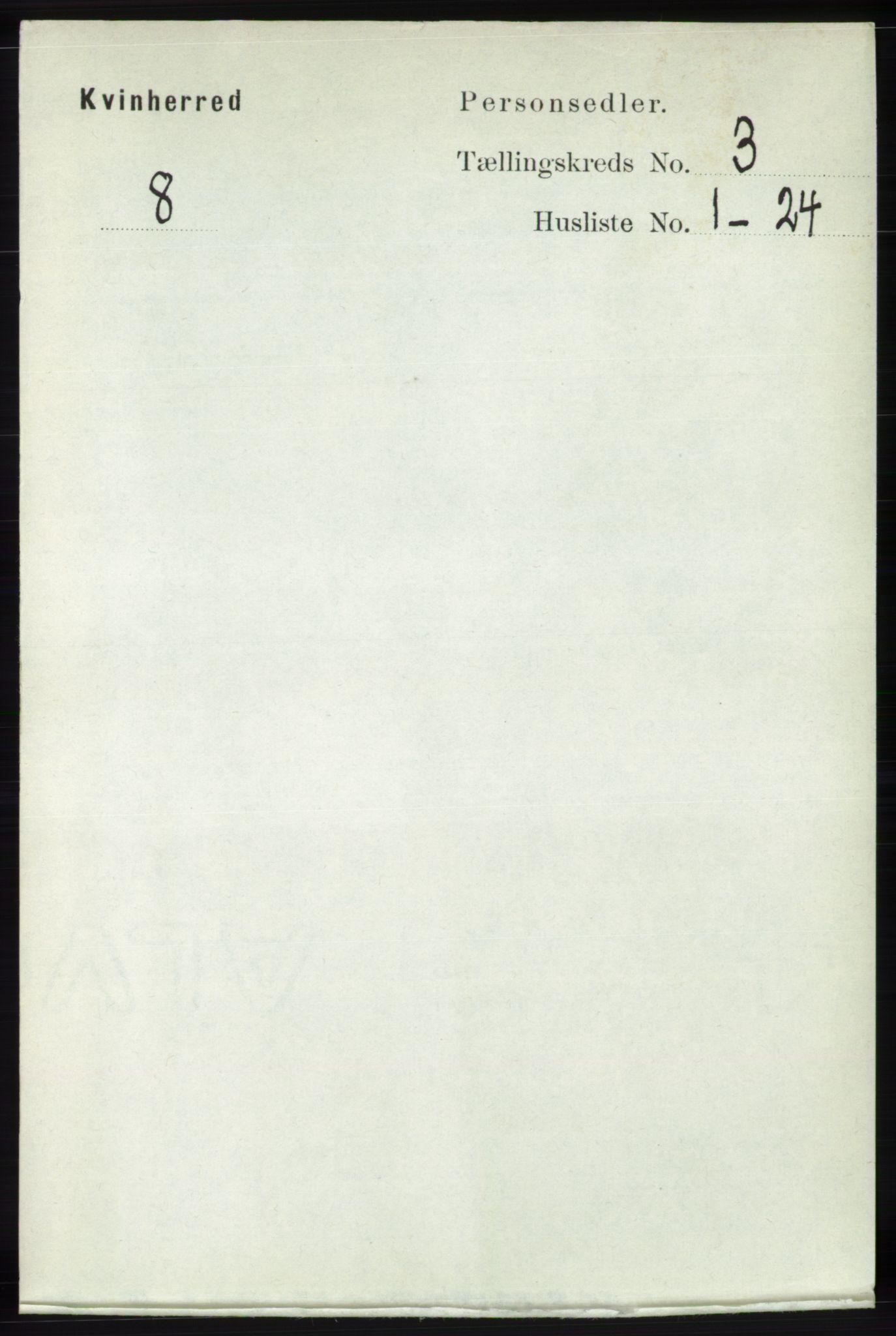 RA, Folketelling 1891 for 1224 Kvinnherad herred, 1891, s. 889