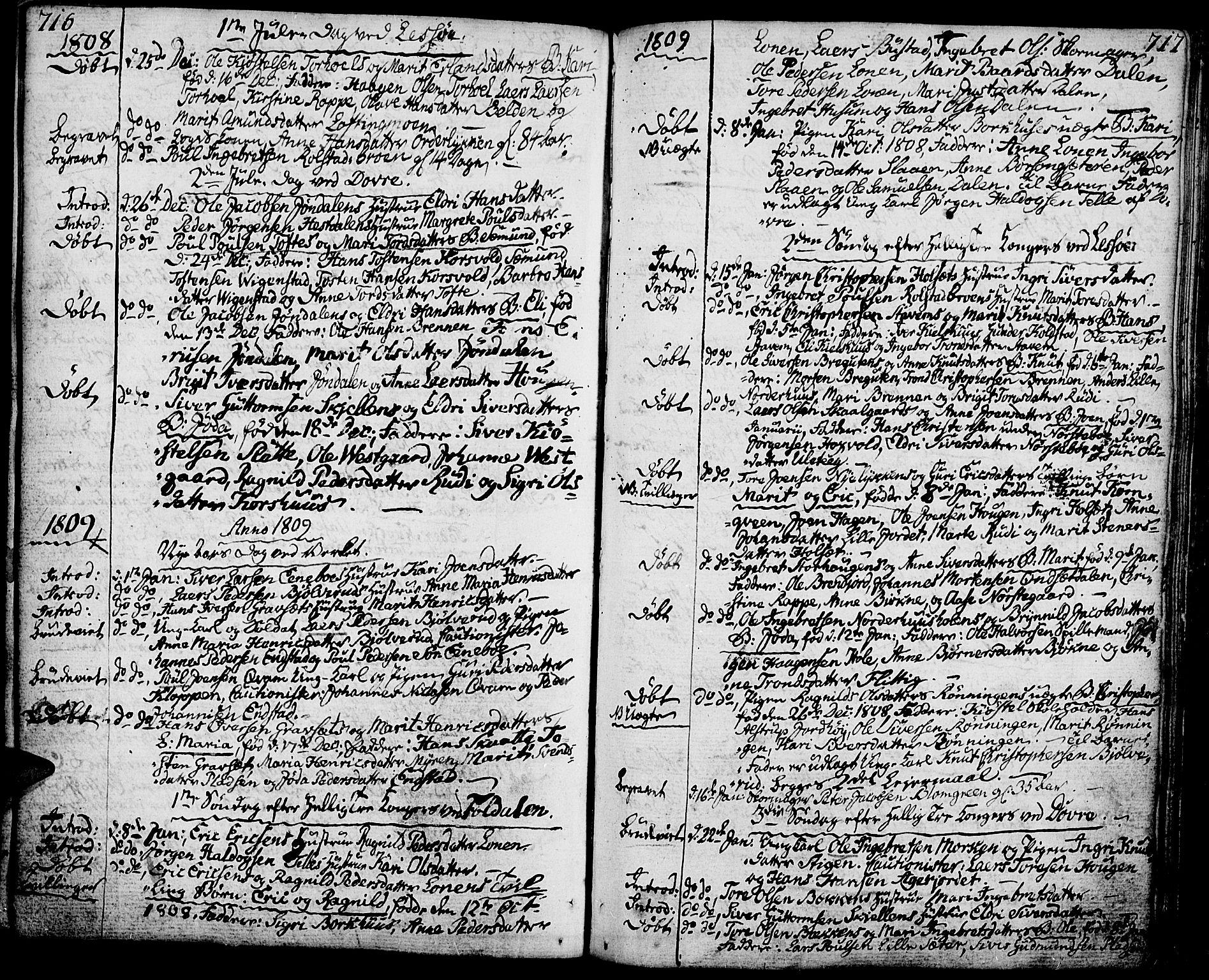 SAH, Lesja prestekontor, Ministerialbok nr. 3, 1777-1819, s. 716-717