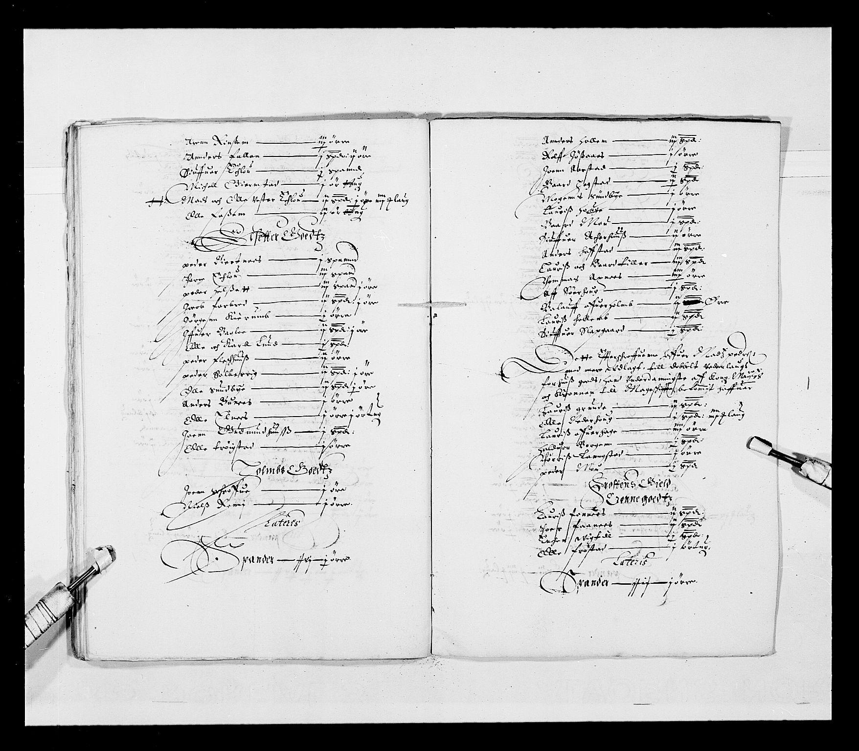 RA, Stattholderembetet 1572-1771, Ek/L0028: Jordebøker 1633-1658:, 1645-1646, s. 157