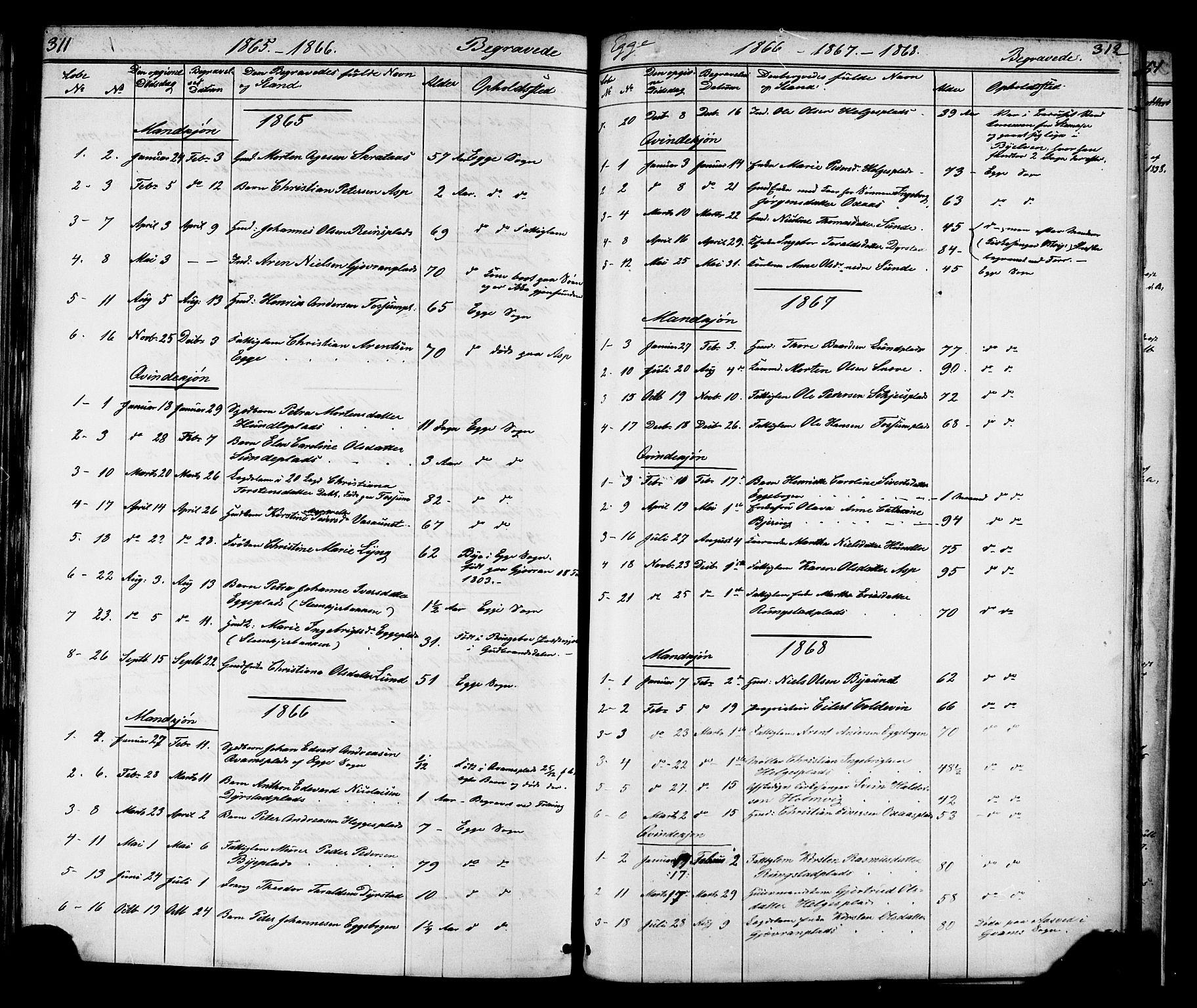SAT, Ministerialprotokoller, klokkerbøker og fødselsregistre - Nord-Trøndelag, 739/L0367: Ministerialbok nr. 739A01 /3, 1838-1868, s. 311-312