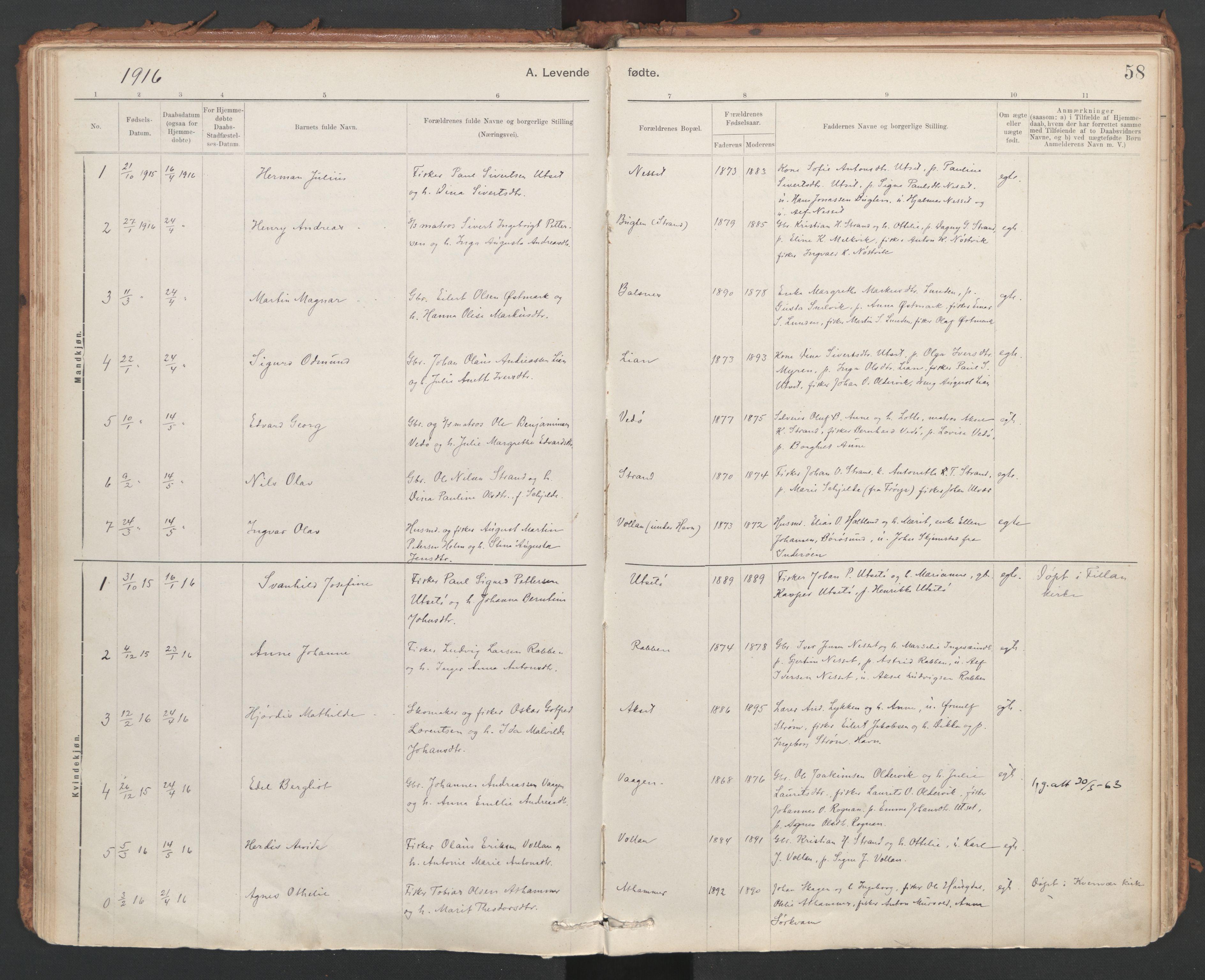 SAT, Ministerialprotokoller, klokkerbøker og fødselsregistre - Sør-Trøndelag, 639/L0572: Ministerialbok nr. 639A01, 1890-1920, s. 58
