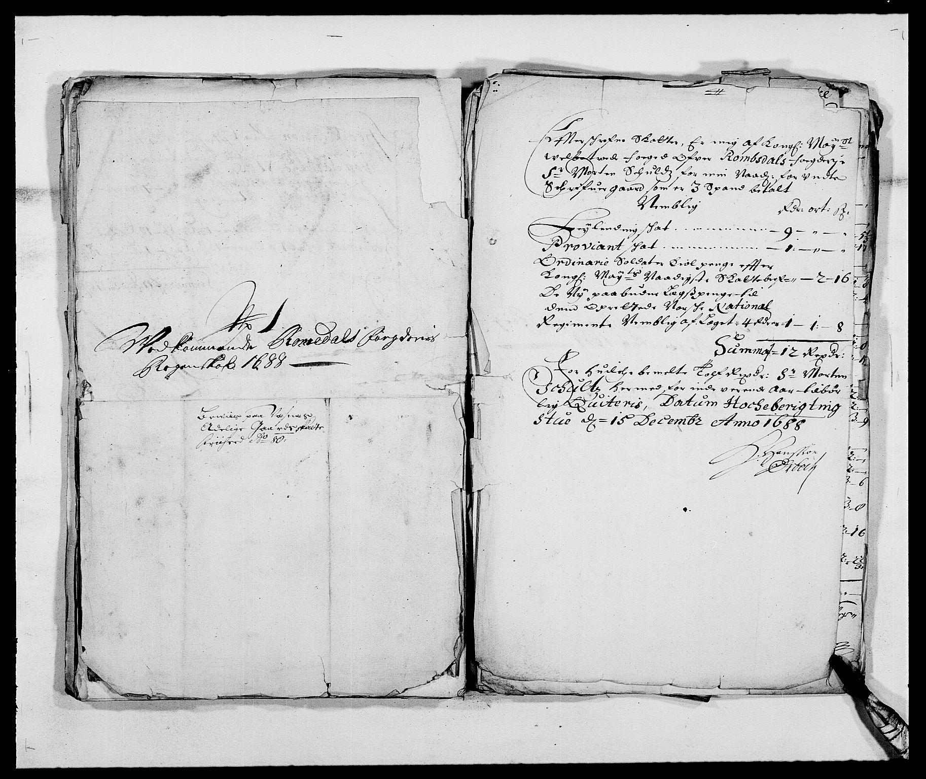 RA, Rentekammeret inntil 1814, Reviderte regnskaper, Fogderegnskap, R55/L3648: Fogderegnskap Romsdal, 1687-1689, s. 291