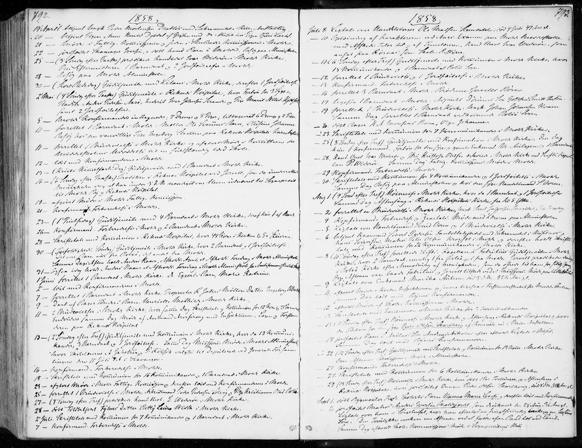 SAT, Ministerialprotokoller, klokkerbøker og fødselsregistre - Møre og Romsdal, 558/L0689: Ministerialbok nr. 558A03, 1843-1872, s. 792-793