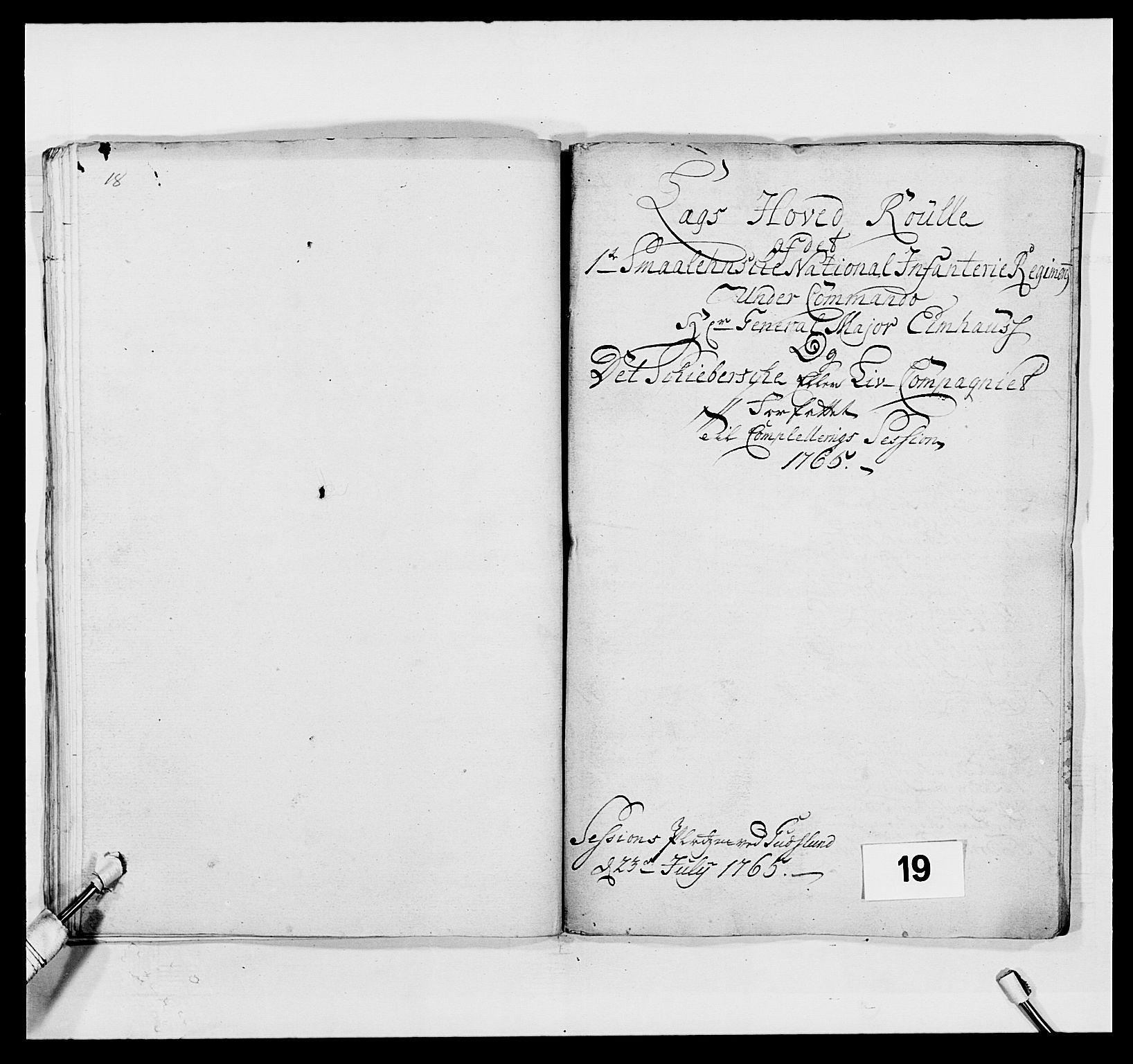 RA, Kommanderende general (KG I) med Det norske krigsdirektorium, E/Ea/L0496: 1. Smålenske regiment, 1765-1767, s. 291