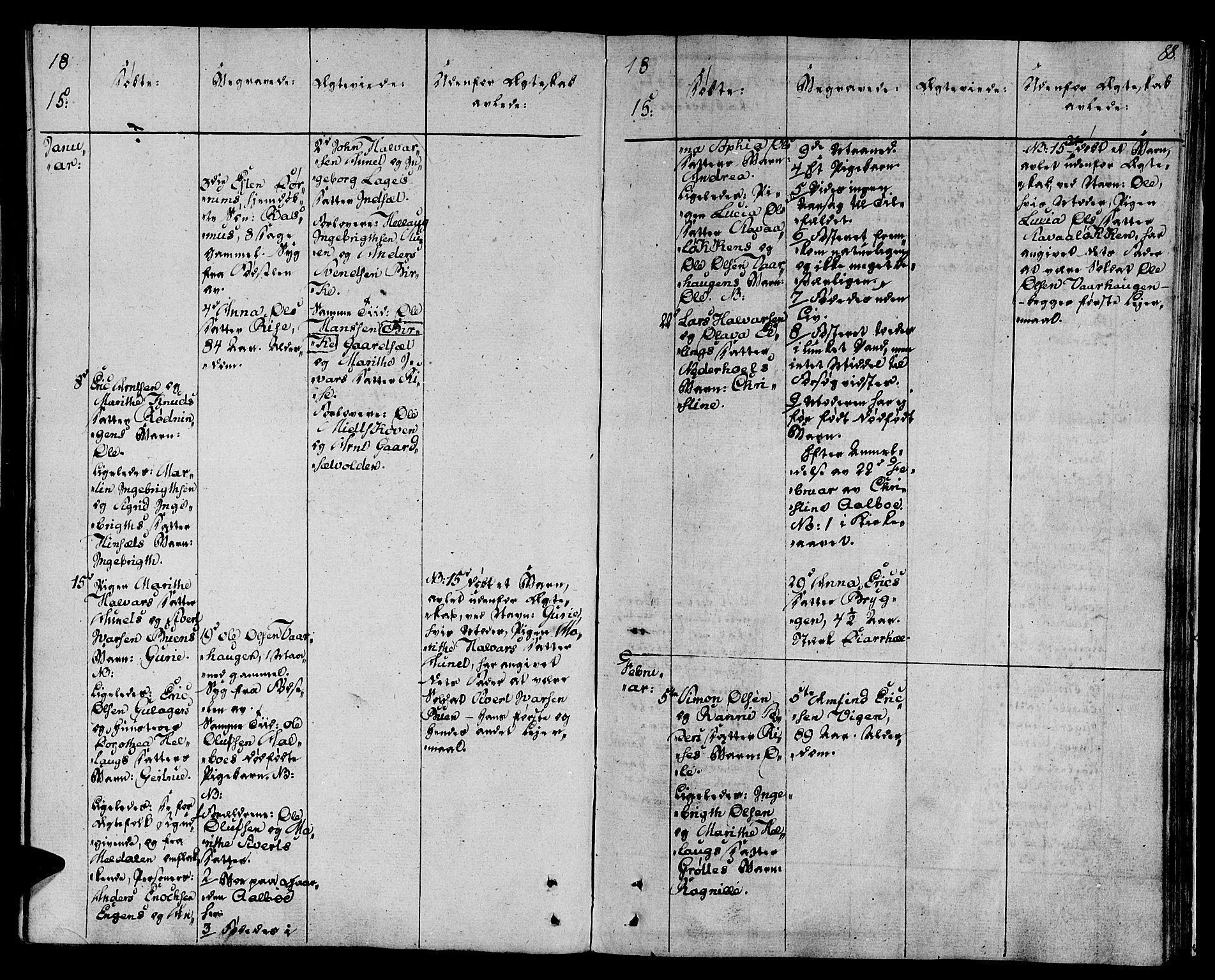 SAT, Ministerialprotokoller, klokkerbøker og fødselsregistre - Sør-Trøndelag, 678/L0894: Ministerialbok nr. 678A04, 1806-1815, s. 88