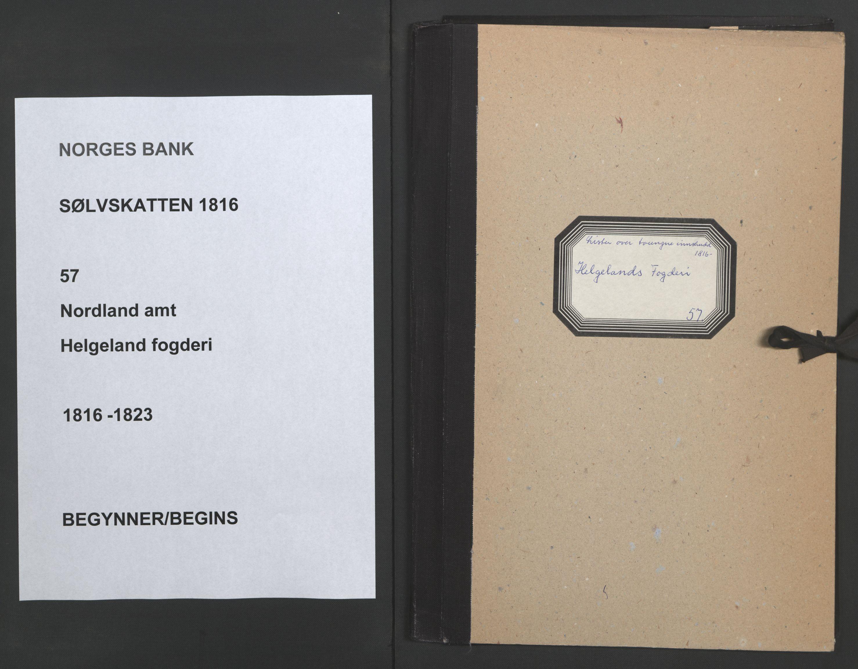 NOBA, Norges Bank/Sølvskatten 1816*, 1816-1823, s. 1