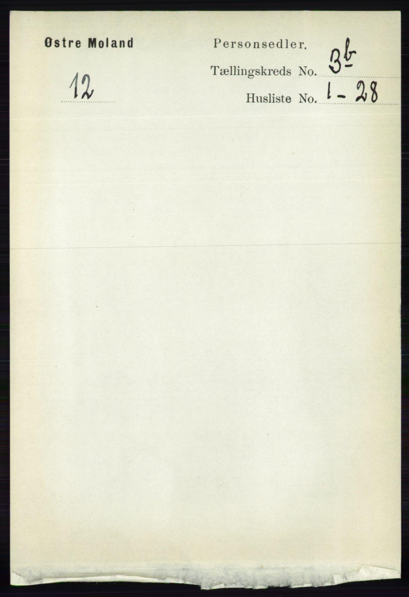 RA, Folketelling 1891 for 0918 Austre Moland herred, 1891, s. 1741