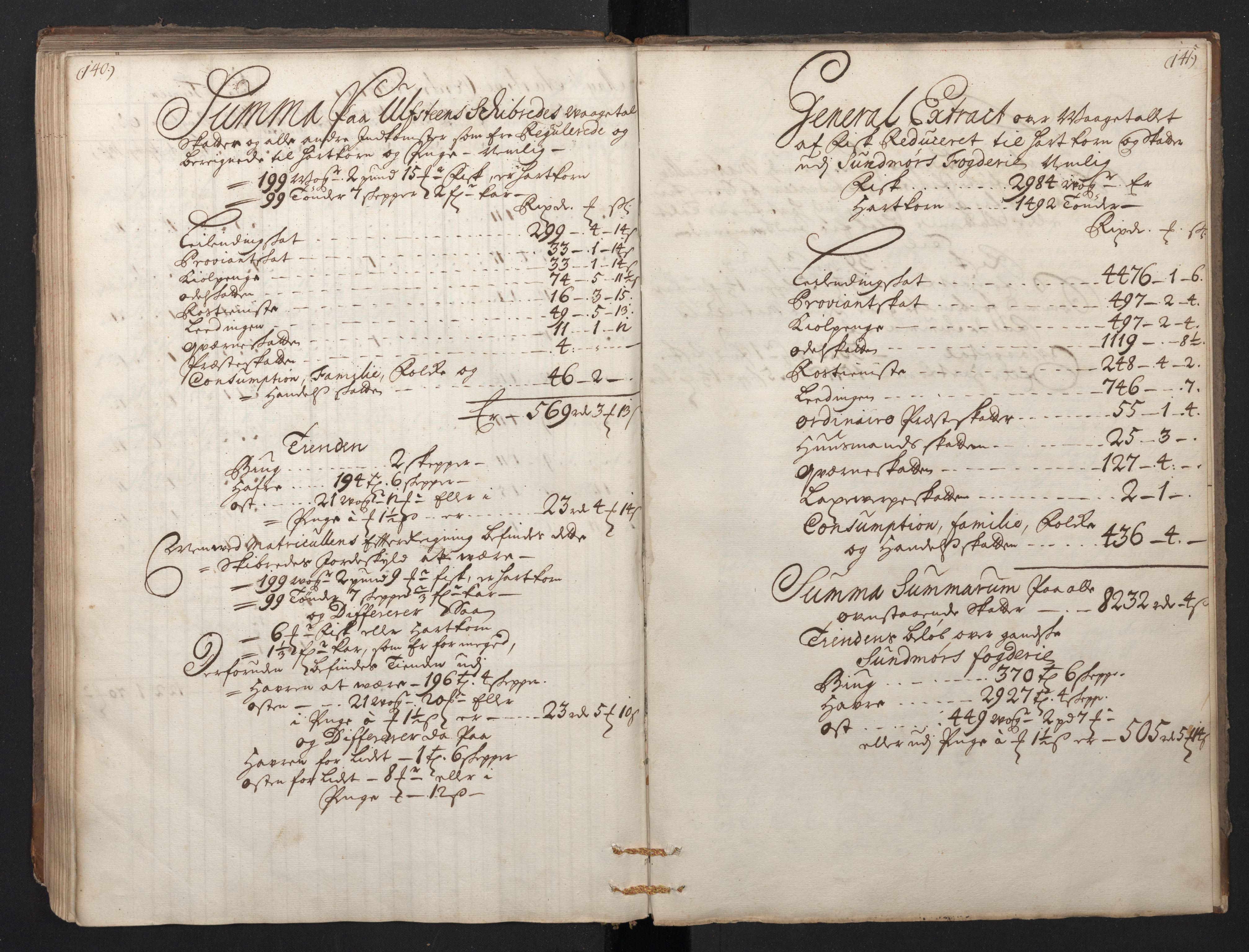 RA, Rentekammeret inntil 1814, Realistisk ordnet avdeling, N/Nb/Nbf/L0149: Sunnmøre, prøvematrikkel, 1714, s. 140-141