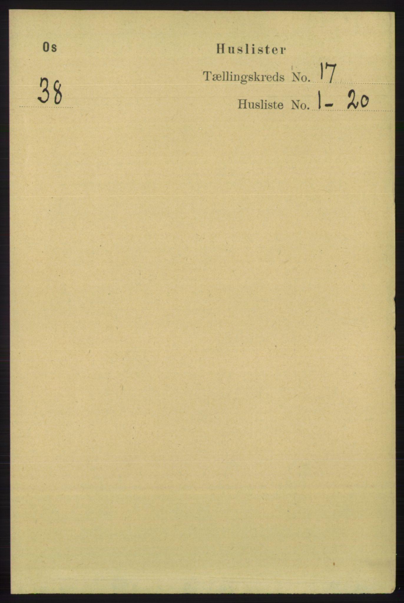 RA, Folketelling 1891 for 1243 Os herred, 1891, s. 3695