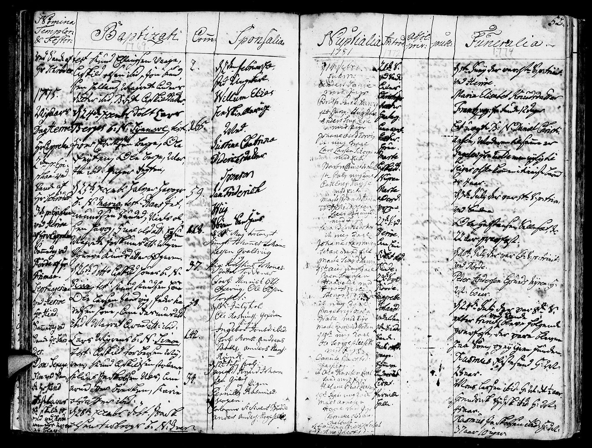 SAT, Ministerialprotokoller, klokkerbøker og fødselsregistre - Møre og Romsdal, 507/L0067: Ministerialbok nr. 507A02, 1767-1788, s. 52