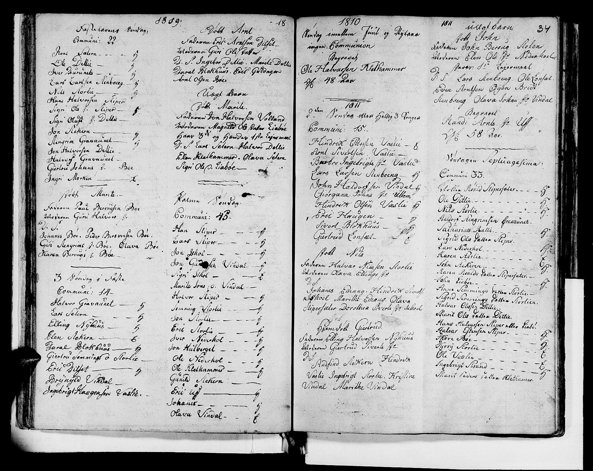 SAT, Ministerialprotokoller, klokkerbøker og fødselsregistre - Sør-Trøndelag, 679/L0921: Klokkerbok nr. 679C01, 1792-1840, s. 34