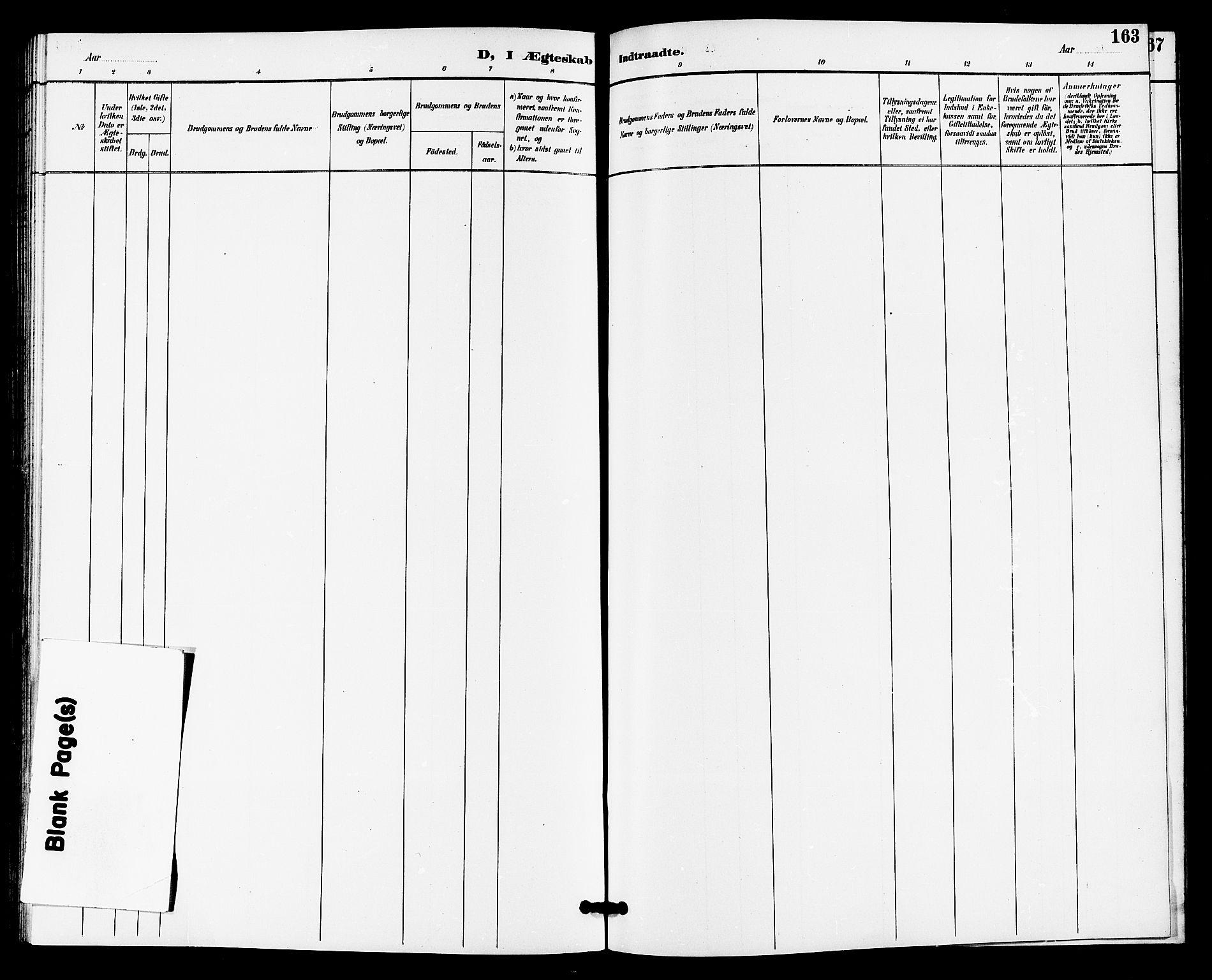 SAKO, Gransherad kirkebøker, G/Ga/L0003: Klokkerbok nr. I 3, 1887-1915, s. 163