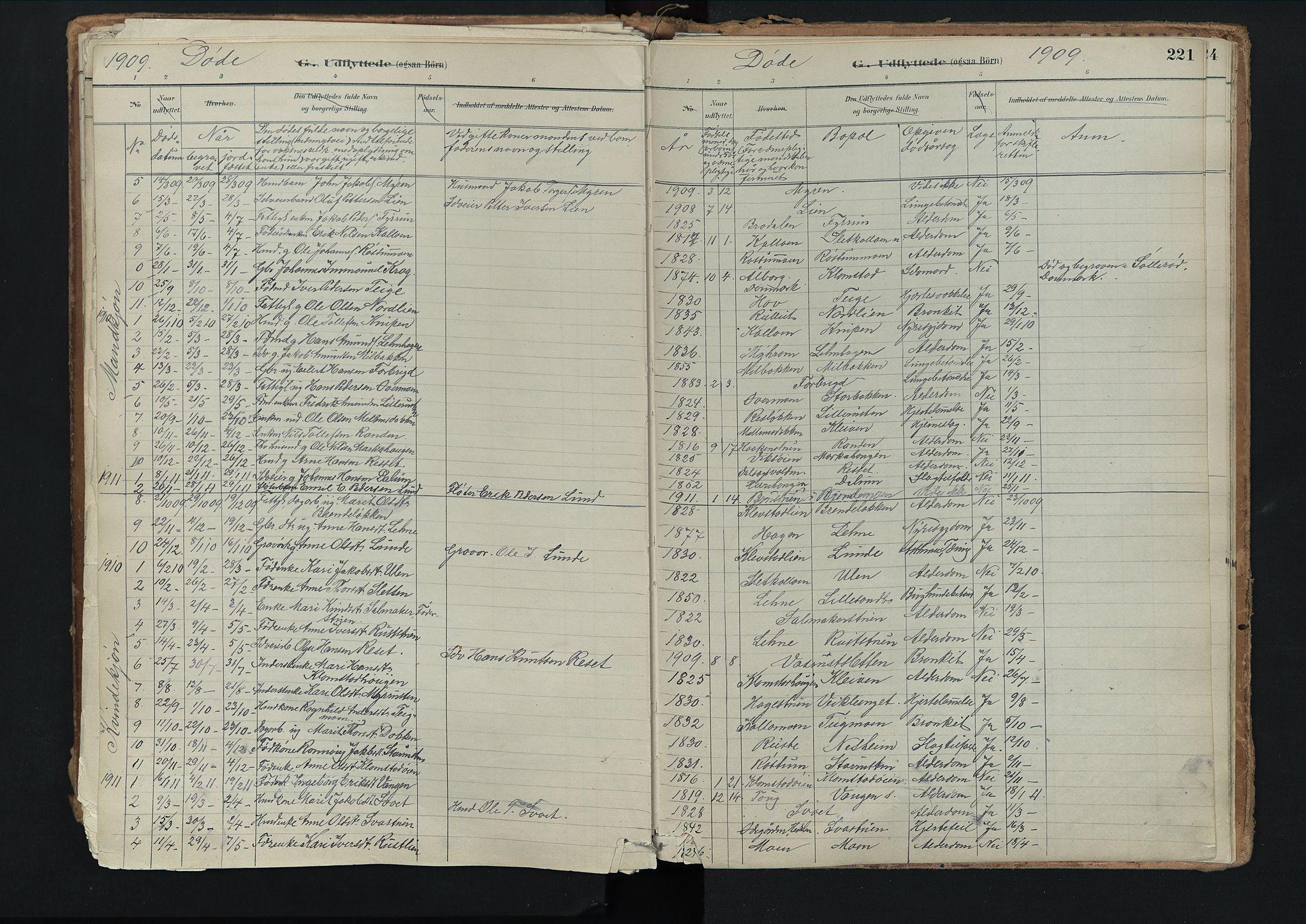 SAH, Nord-Fron prestekontor, Ministerialbok nr. 3, 1884-1914, s. 221