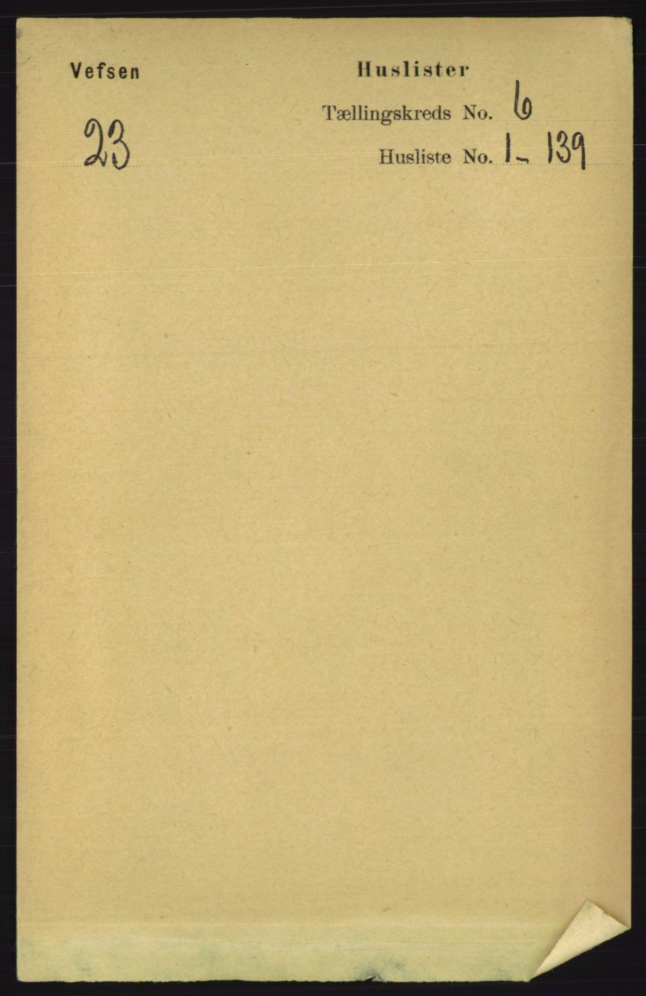 RA, Folketelling 1891 for 1824 Vefsn herred, 1891, s. 2665