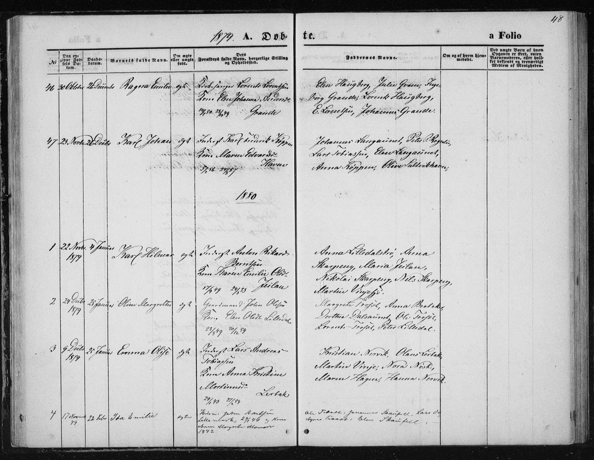 SAT, Ministerialprotokoller, klokkerbøker og fødselsregistre - Nord-Trøndelag, 733/L0324: Ministerialbok nr. 733A03, 1870-1883, s. 48