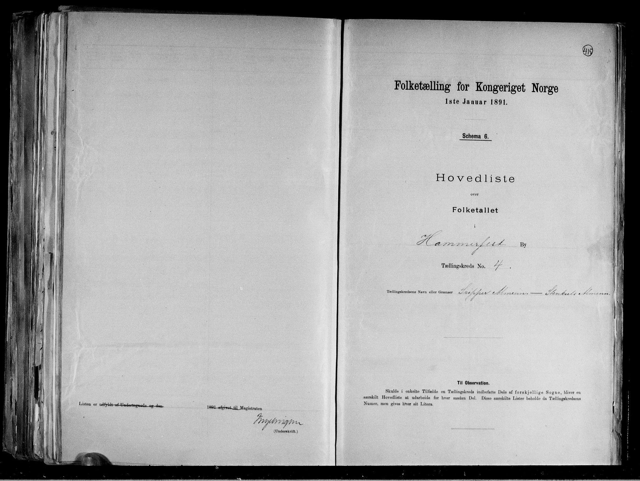 RA, Folketelling 1891 for 2001 Hammerfest kjøpstad, 1891, s. 11