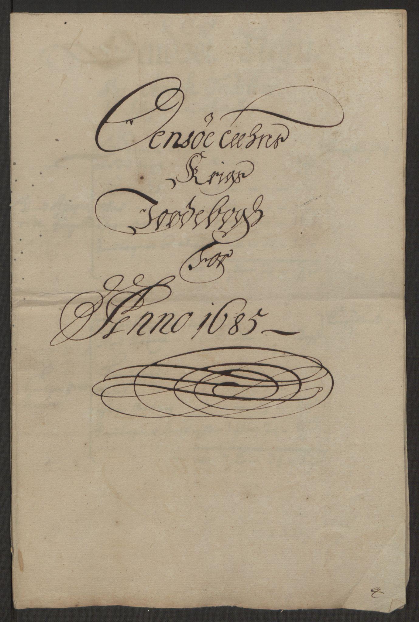 RA, Rentekammeret inntil 1814, Reviderte regnskaper, Fogderegnskap, R03/L0118: Fogderegnskap Onsøy, Tune, Veme og Åbygge fogderi, 1684-1689, s. 169