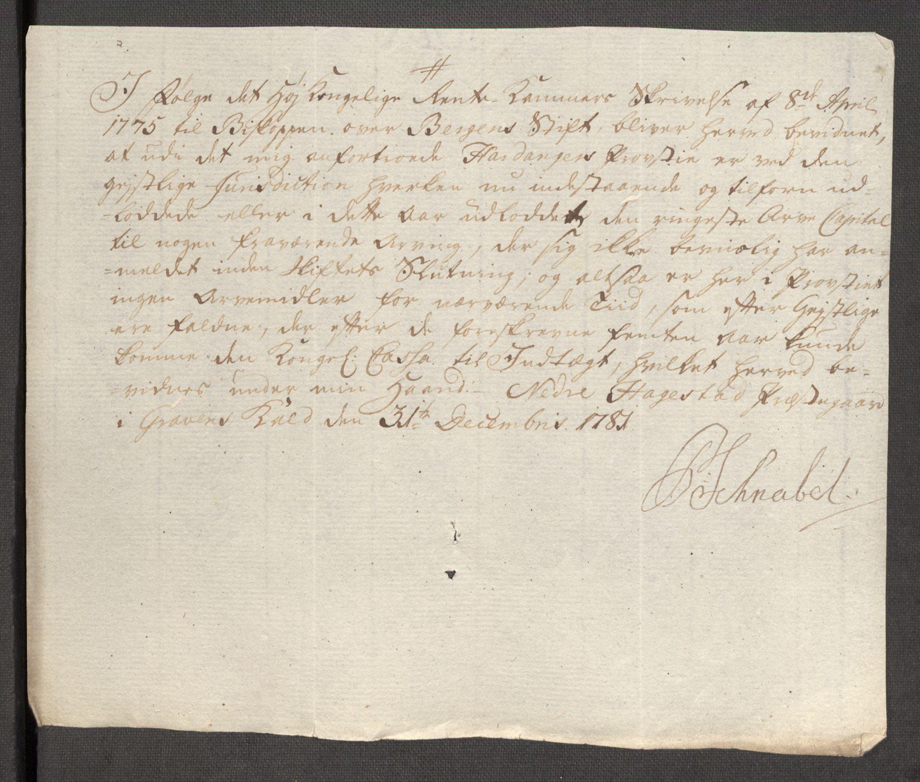 RA, Rentekammeret inntil 1814, Reviderte regnskaper, Fogderegnskap, R48/L3097: Fogderegnskap Sunnhordland og Hardanger, 1781, s. 259