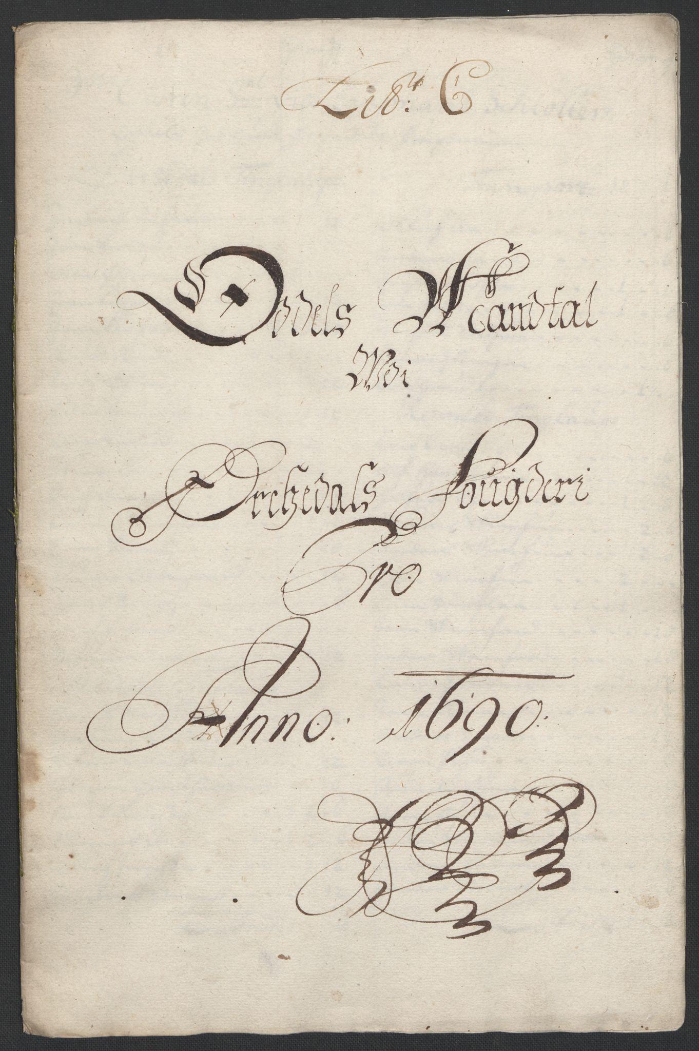 RA, Rentekammeret inntil 1814, Reviderte regnskaper, Fogderegnskap, R58/L3936: Fogderegnskap Orkdal, 1689-1690, s. 329