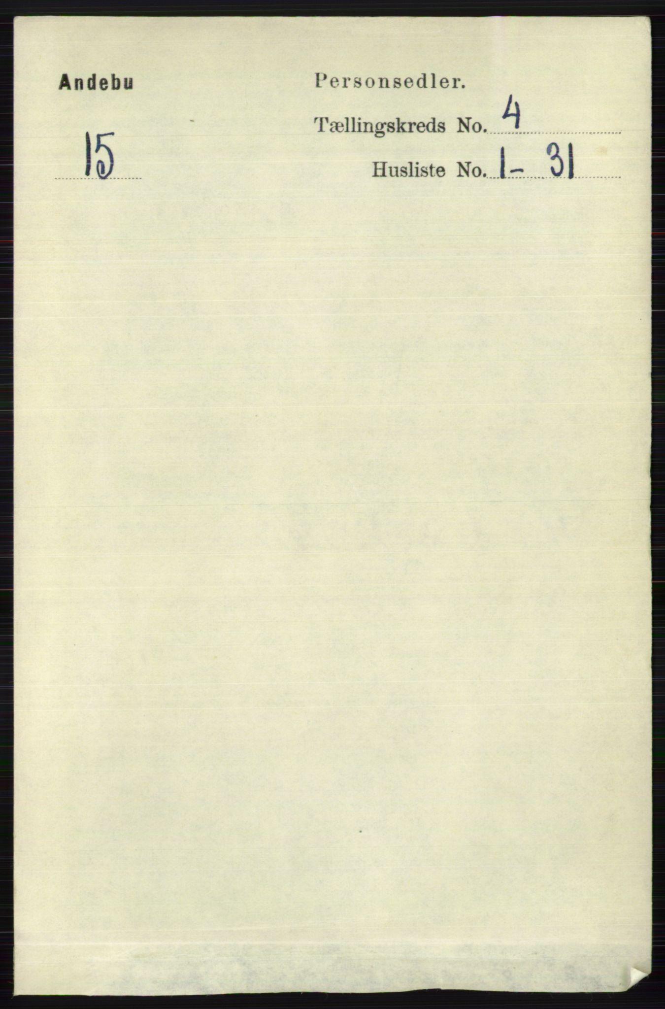 RA, Folketelling 1891 for 0719 Andebu herred, 1891, s. 2037