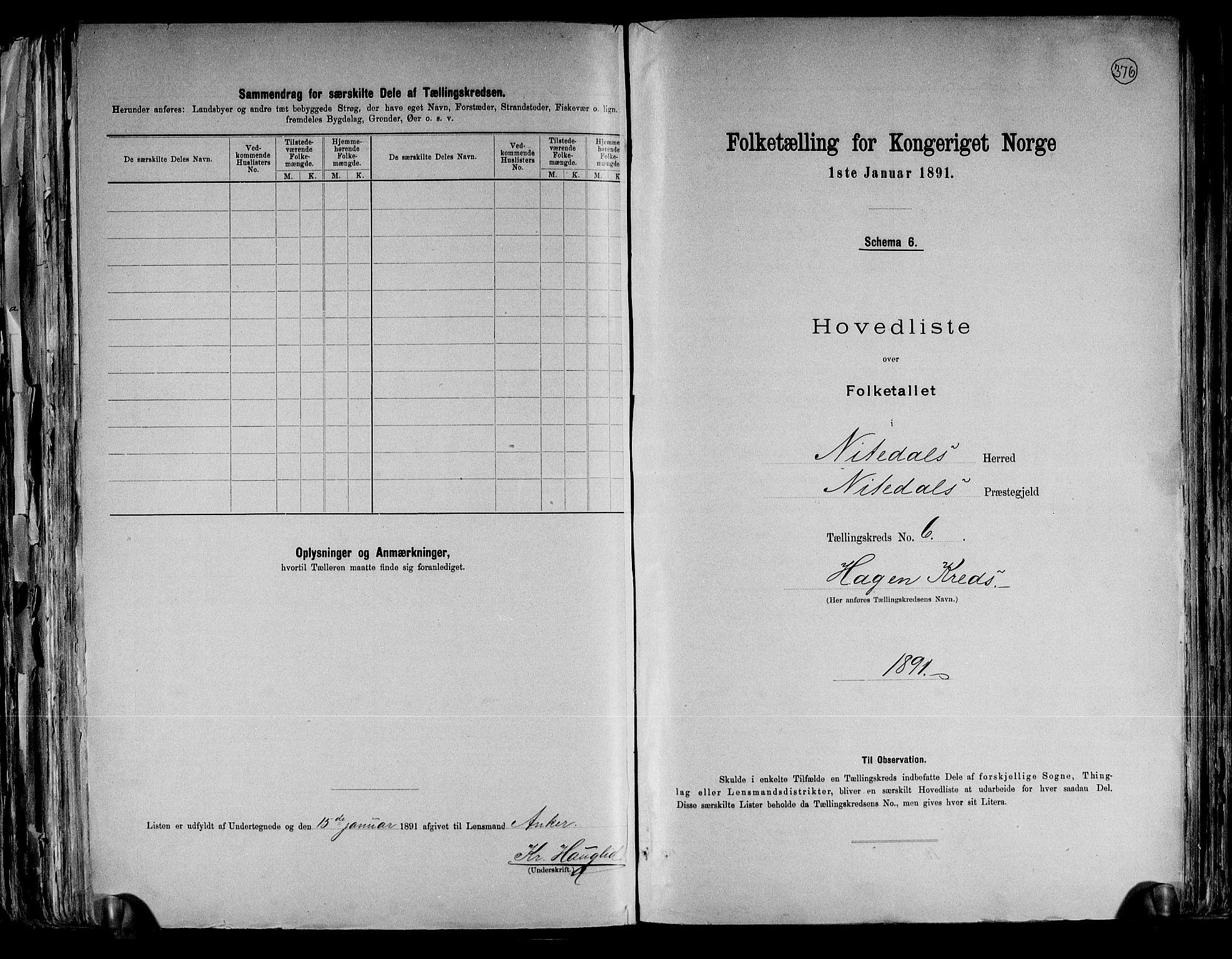 RA, Folketelling 1891 for 0233 Nittedal herred, 1891, s. 17
