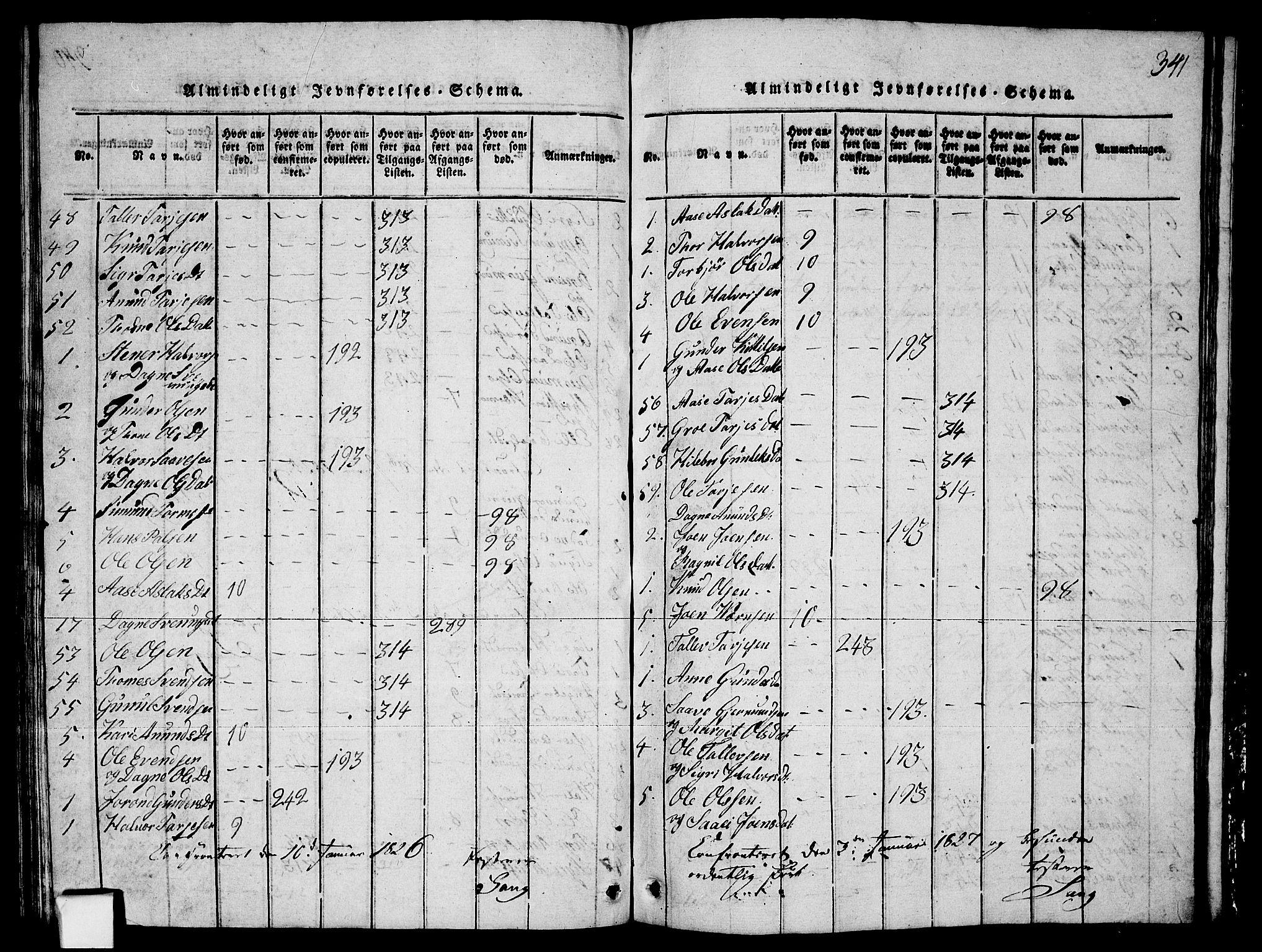 SAKO, Fyresdal kirkebøker, G/Ga/L0003: Klokkerbok nr. I 3, 1815-1863, s. 341