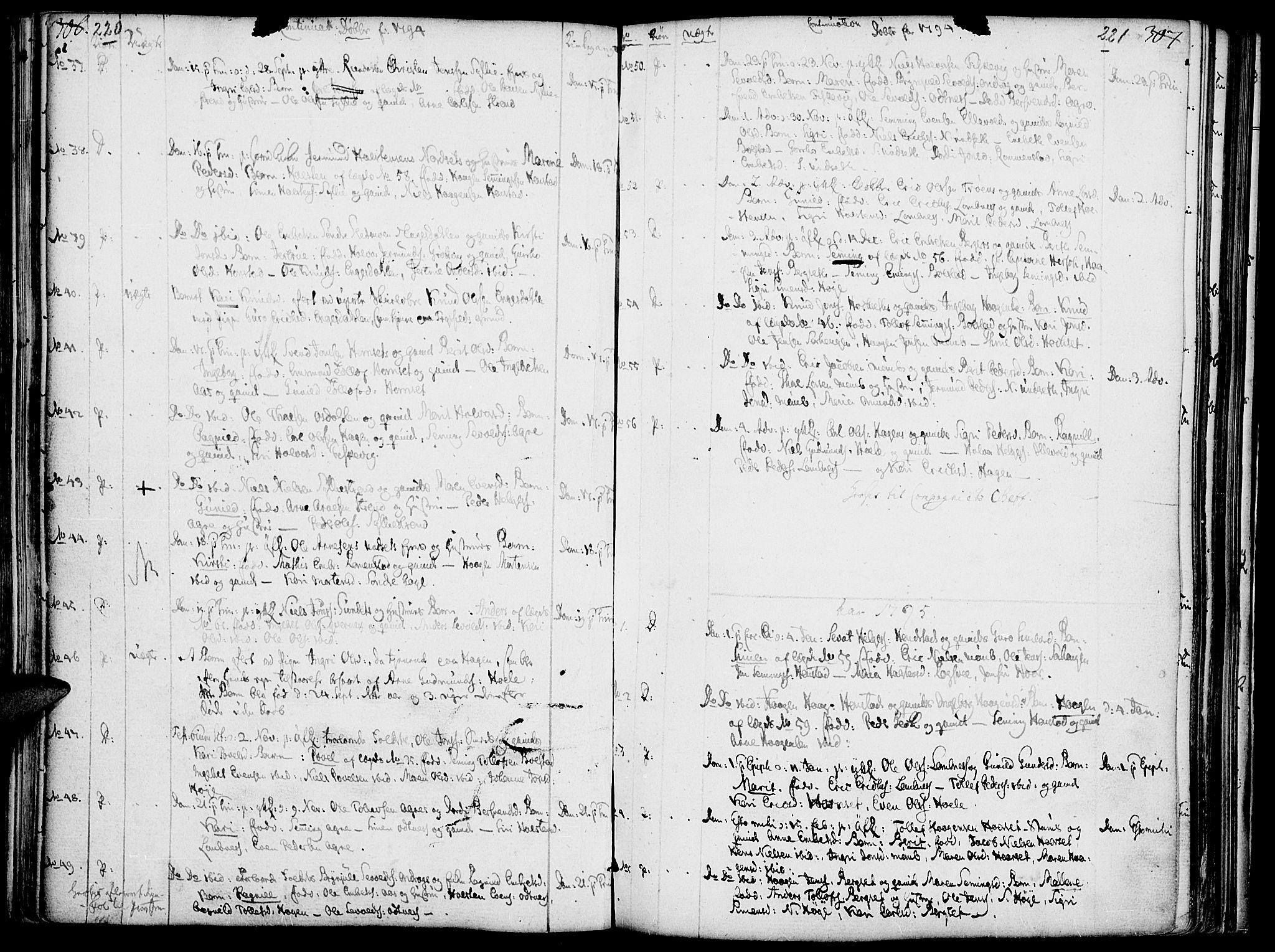 SAH, Rendalen prestekontor, H/Ha/Haa/L0002: Ministerialbok nr. 2, 1788-1814, s. 220-221