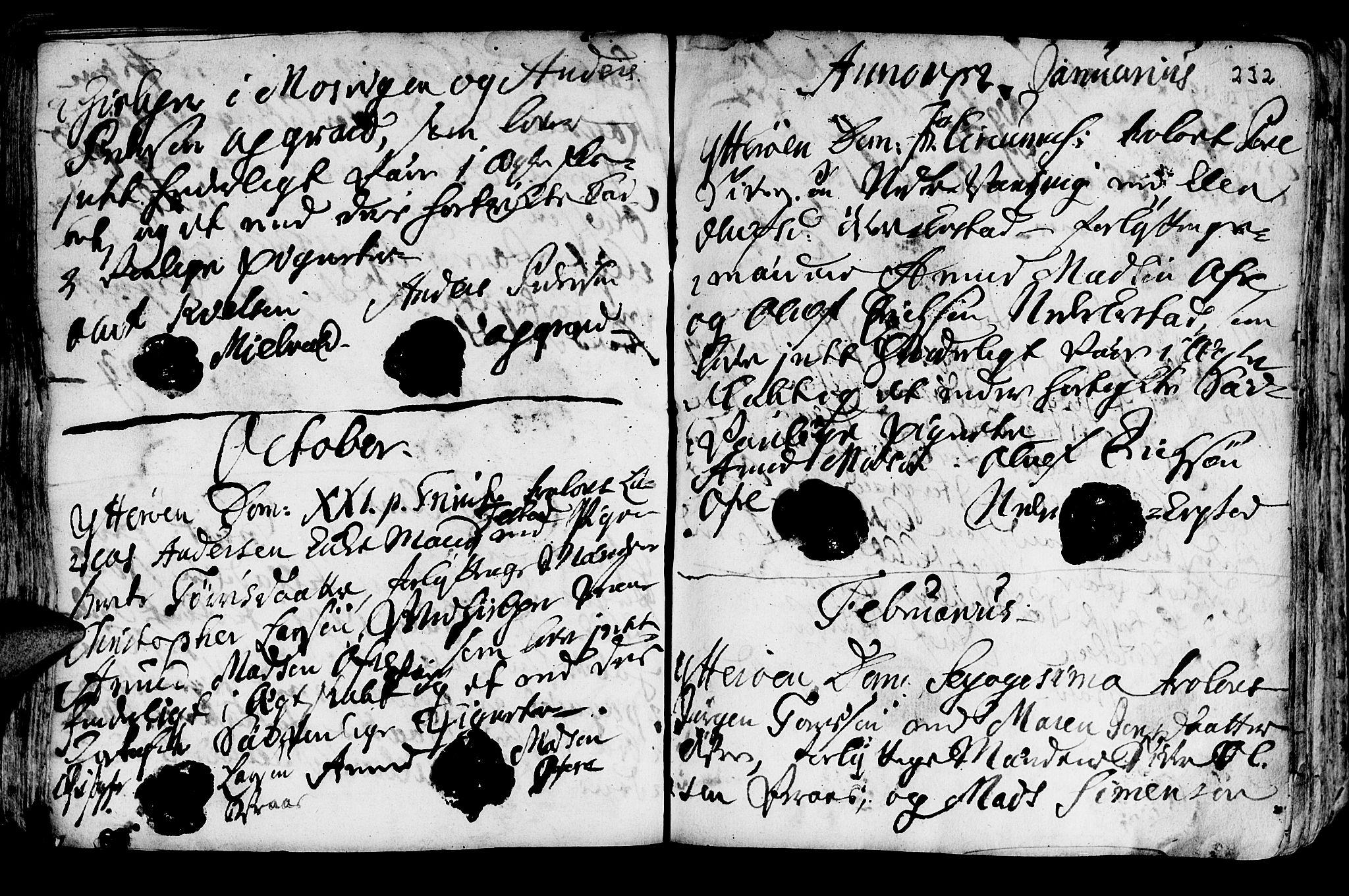 SAT, Ministerialprotokoller, klokkerbøker og fødselsregistre - Nord-Trøndelag, 722/L0215: Ministerialbok nr. 722A02, 1718-1755, s. 232