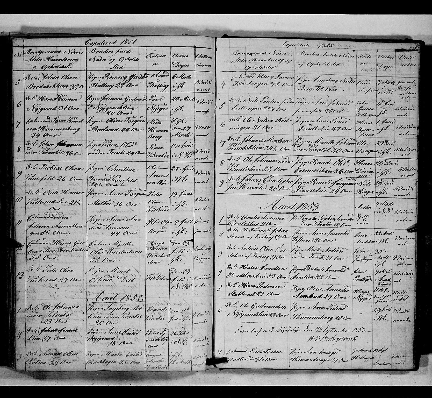 SAH, Gausdal prestekontor, Klokkerbok nr. 5, 1846-1867, s. 175