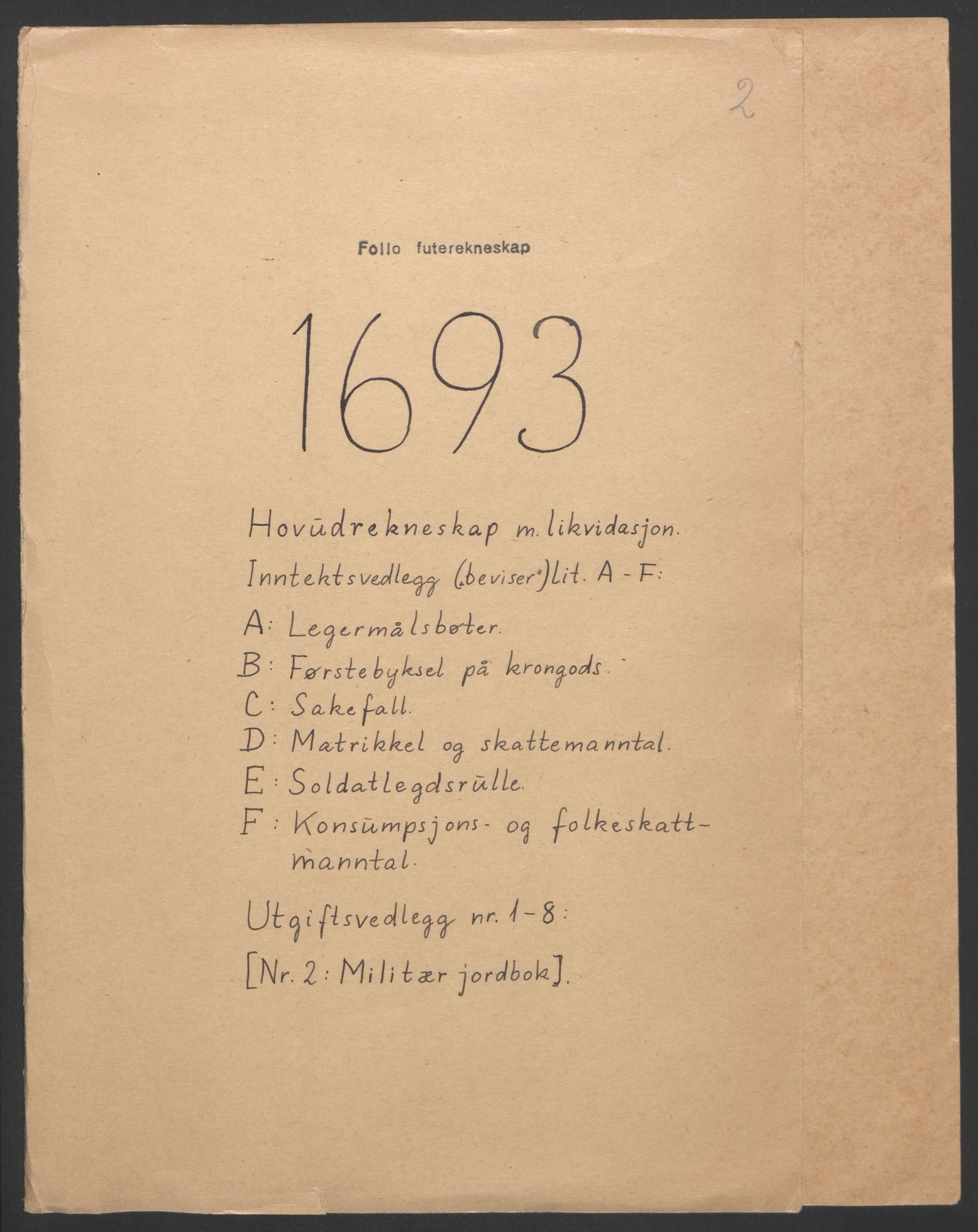 RA, Rentekammeret inntil 1814, Reviderte regnskaper, Fogderegnskap, R09/L0437: Fogderegnskap Follo, 1692-1693, s. 220