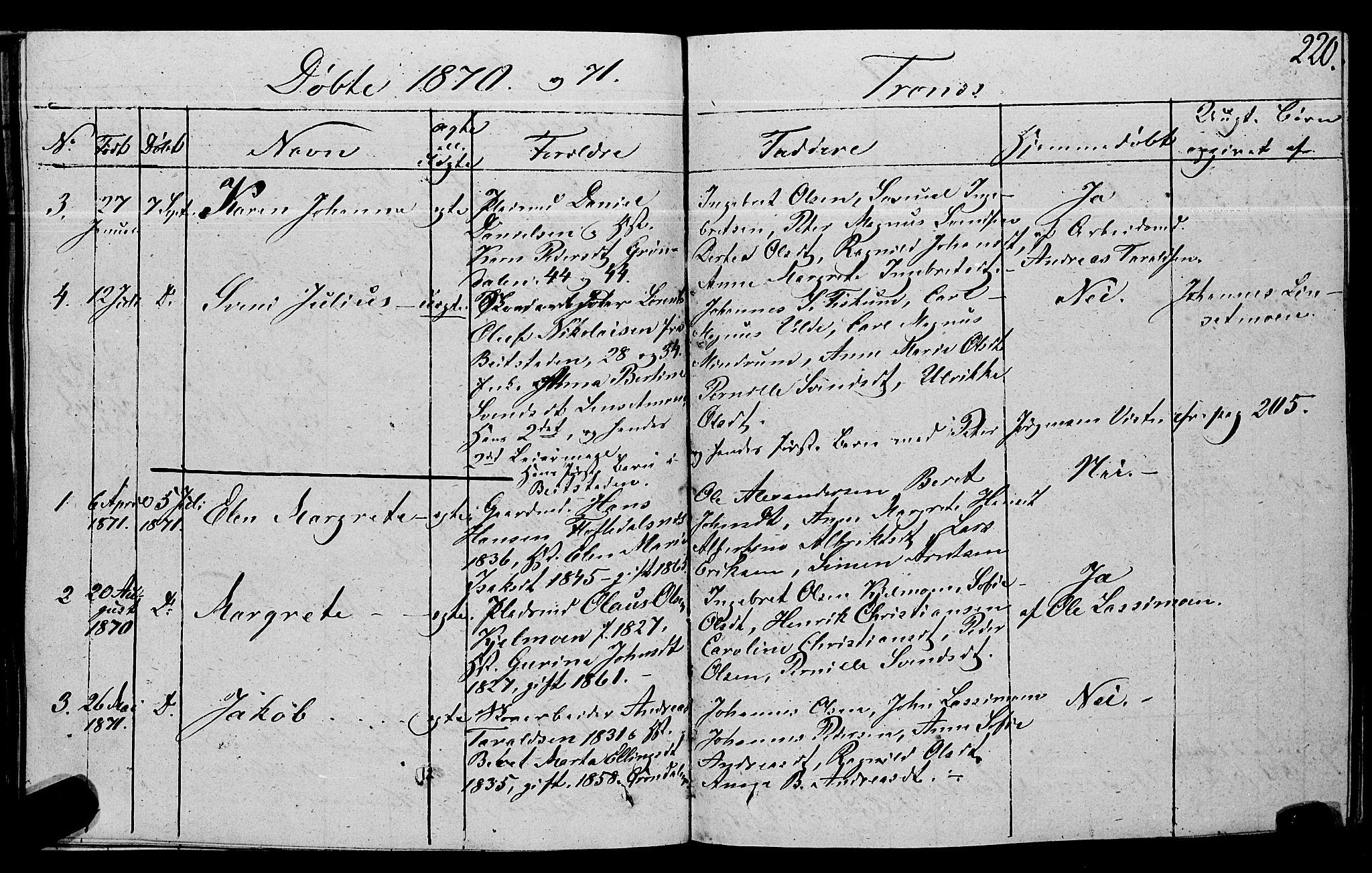SAT, Ministerialprotokoller, klokkerbøker og fødselsregistre - Nord-Trøndelag, 762/L0538: Ministerialbok nr. 762A02 /2, 1833-1879, s. 220