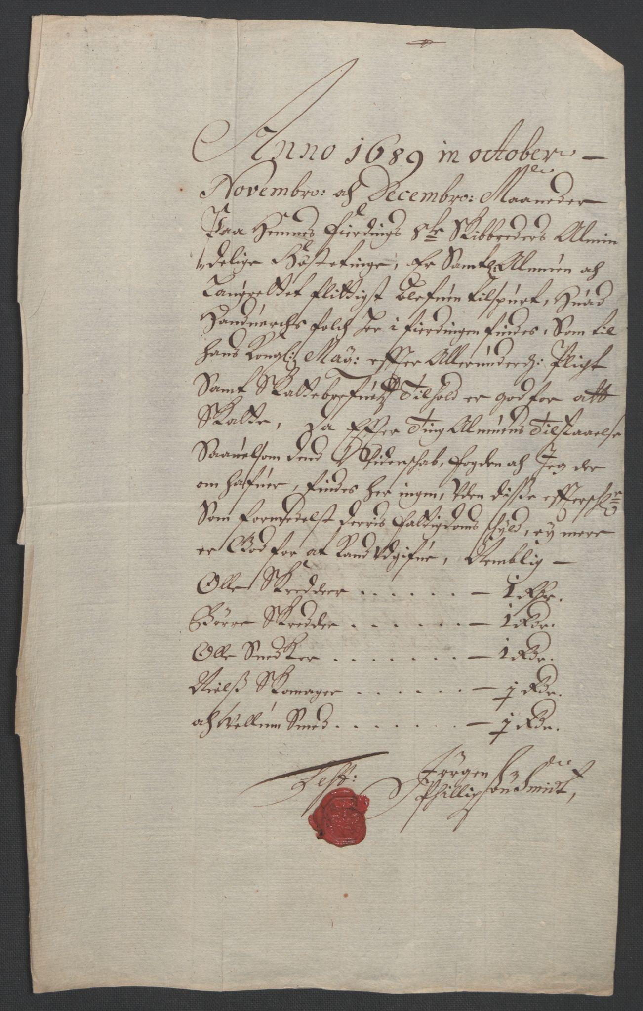 RA, Rentekammeret inntil 1814, Reviderte regnskaper, Fogderegnskap, R47/L2856: Fogderegnskap Ryfylke, 1689-1693, s. 76