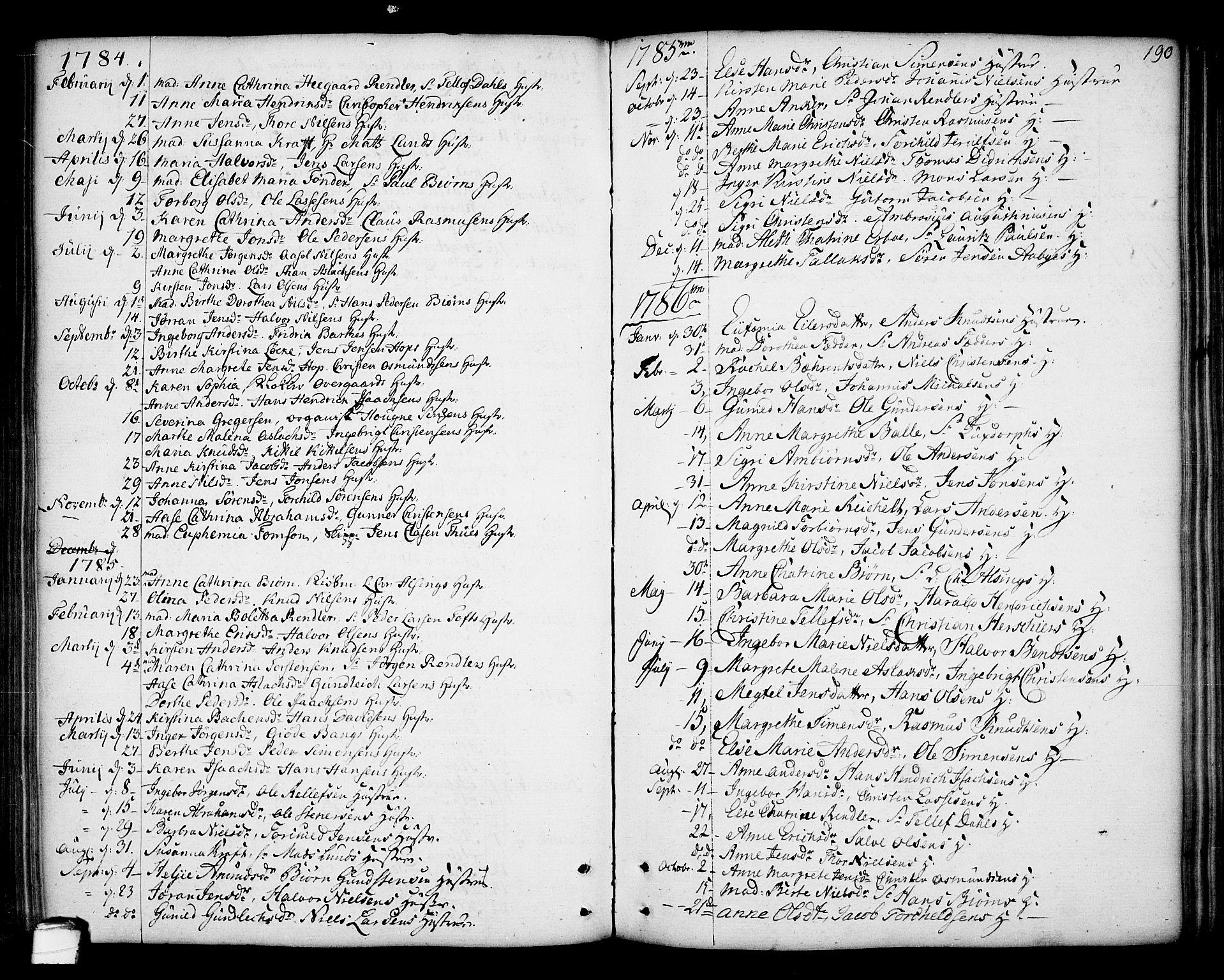 SAKO, Kragerø kirkebøker, F/Fa/L0002: Ministerialbok nr. 2, 1767-1802, s. 190