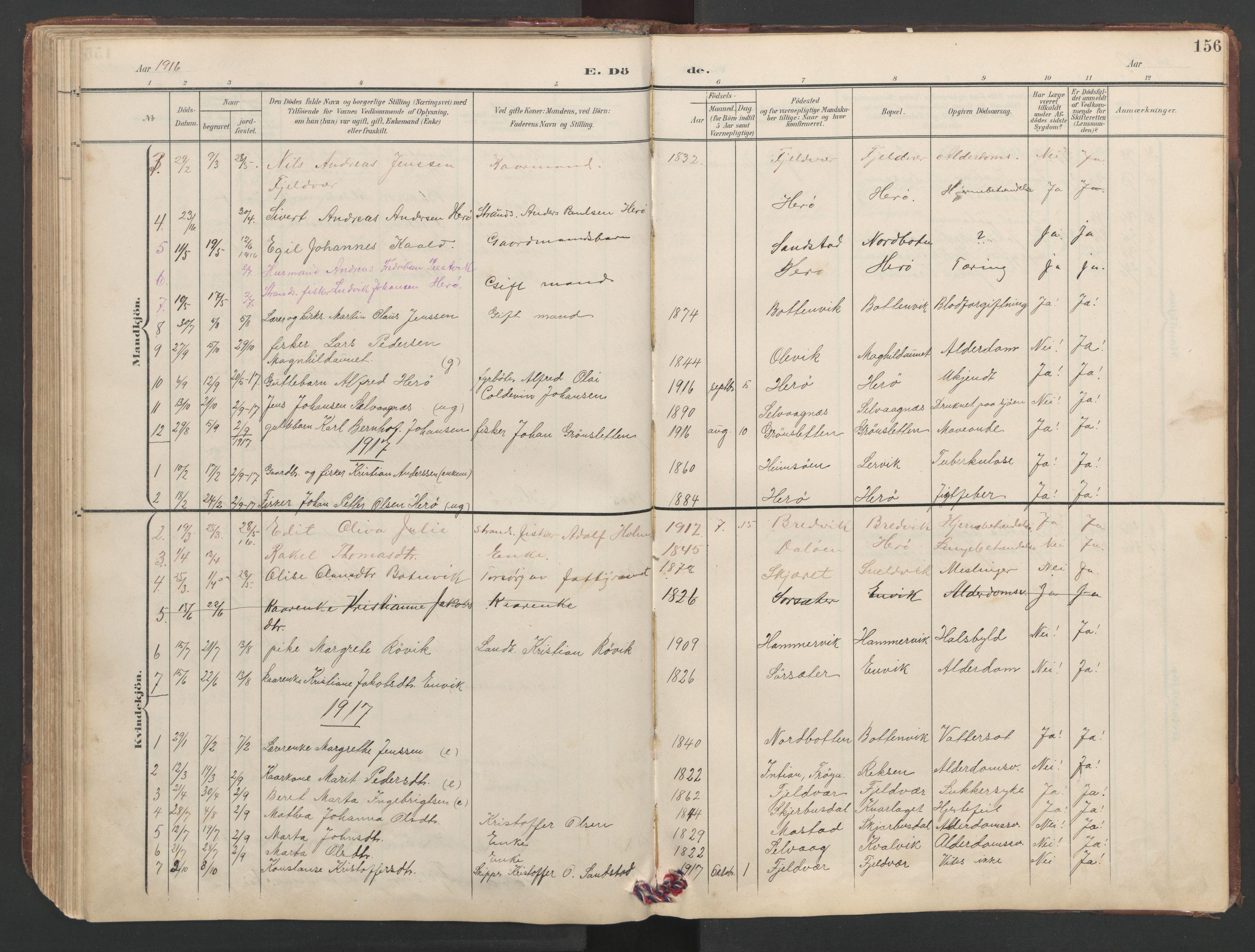 SAT, Ministerialprotokoller, klokkerbøker og fødselsregistre - Sør-Trøndelag, 638/L0571: Klokkerbok nr. 638C03, 1901-1930, s. 156
