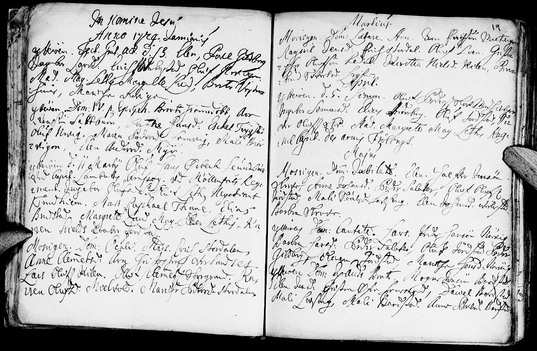 SAT, Ministerialprotokoller, klokkerbøker og fødselsregistre - Nord-Trøndelag, 722/L0215: Ministerialbok nr. 722A02, 1718-1755, s. 19