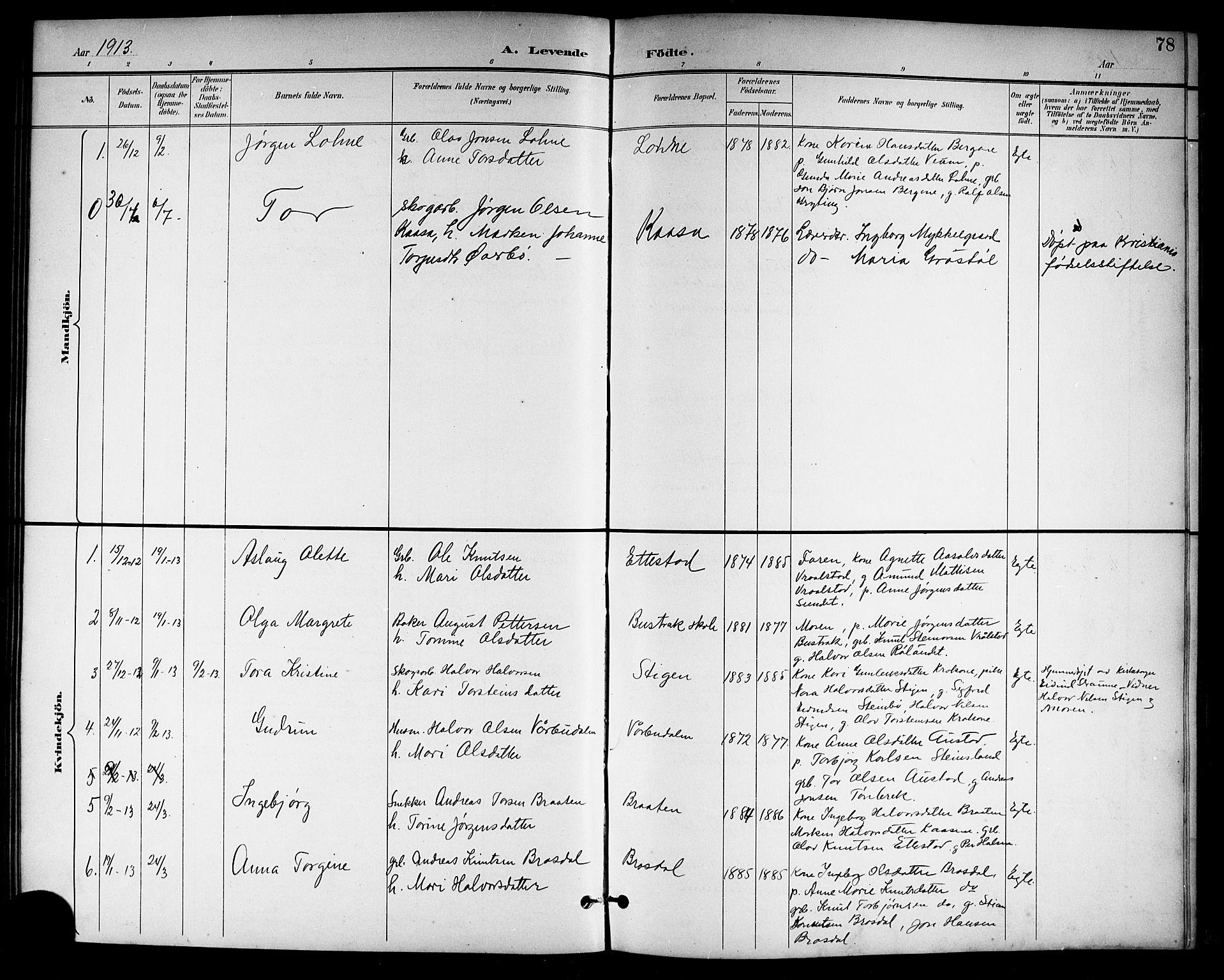 SAKO, Drangedal kirkebøker, G/Gb/L0002: Klokkerbok nr. II 2, 1895-1918, s. 78