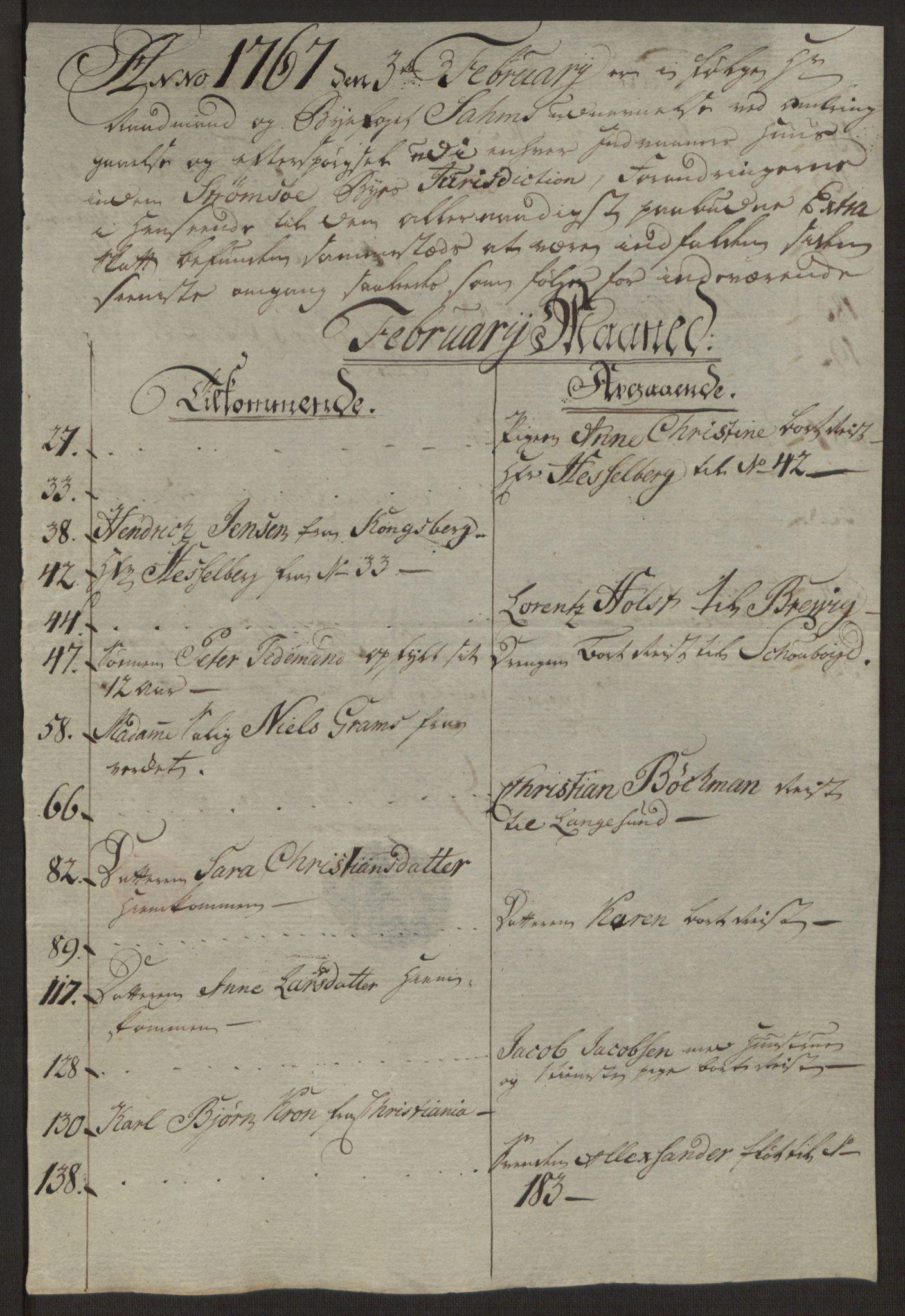 RA, Rentekammeret inntil 1814, Reviderte regnskaper, Byregnskaper, R/Rg/L0144: [G4] Kontribusjonsregnskap, 1762-1767, s. 511