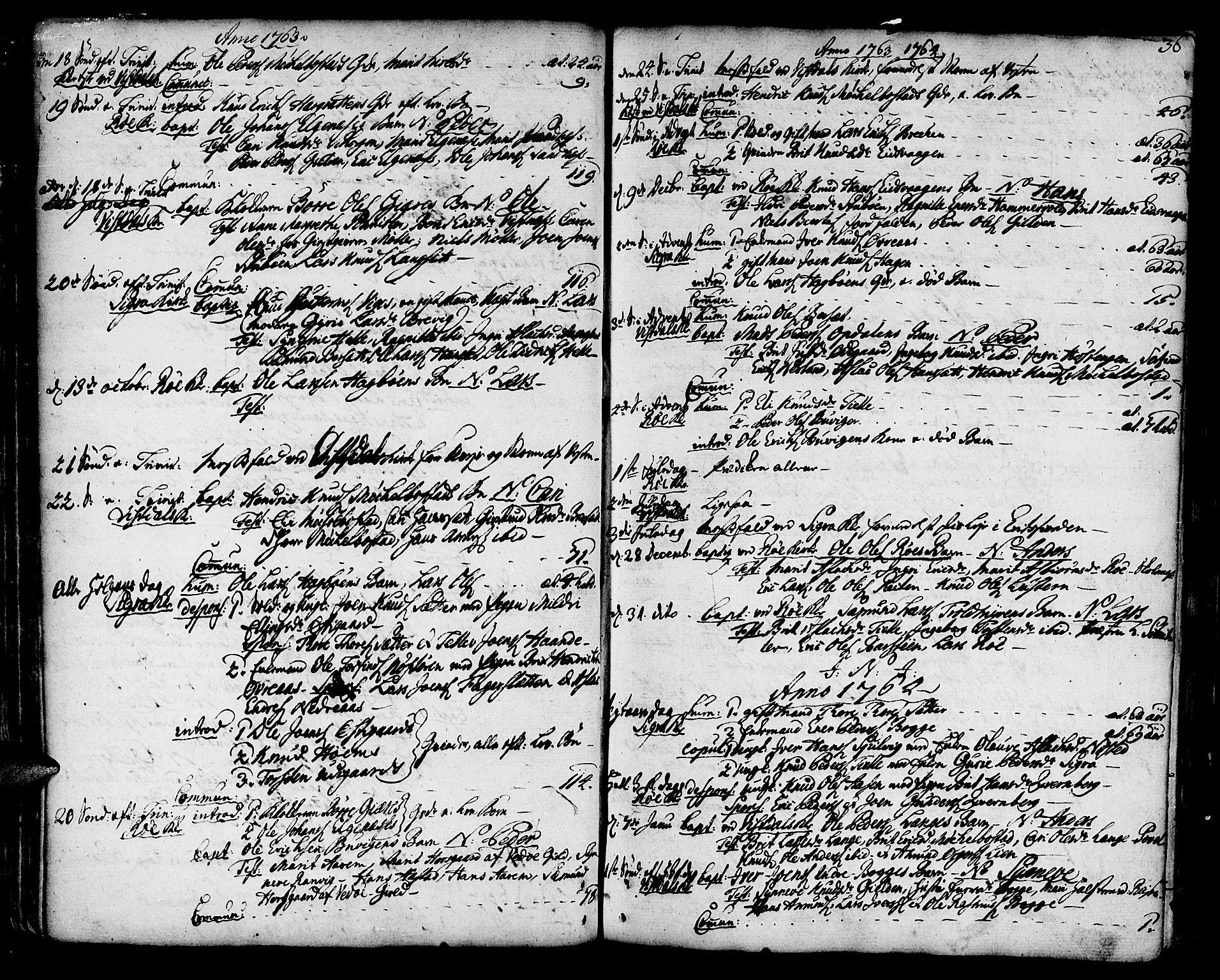SAT, Ministerialprotokoller, klokkerbøker og fødselsregistre - Møre og Romsdal, 551/L0621: Ministerialbok nr. 551A01, 1757-1803, s. 36