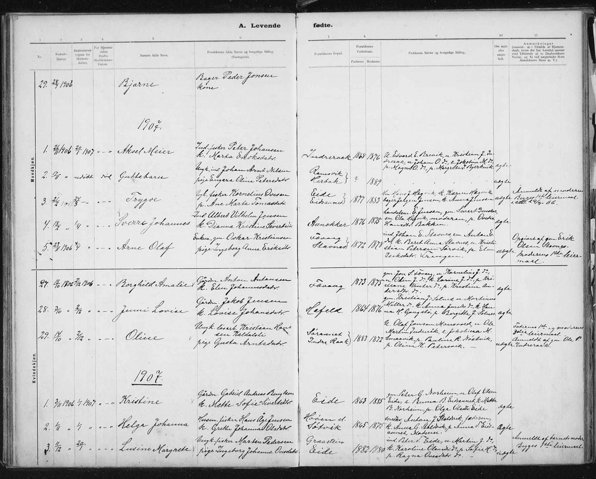 SAT, Ministerialprotokoller, klokkerbøker og fødselsregistre - Sør-Trøndelag, 653/L0660: Klokkerbok nr. 653C04, 1894-1919