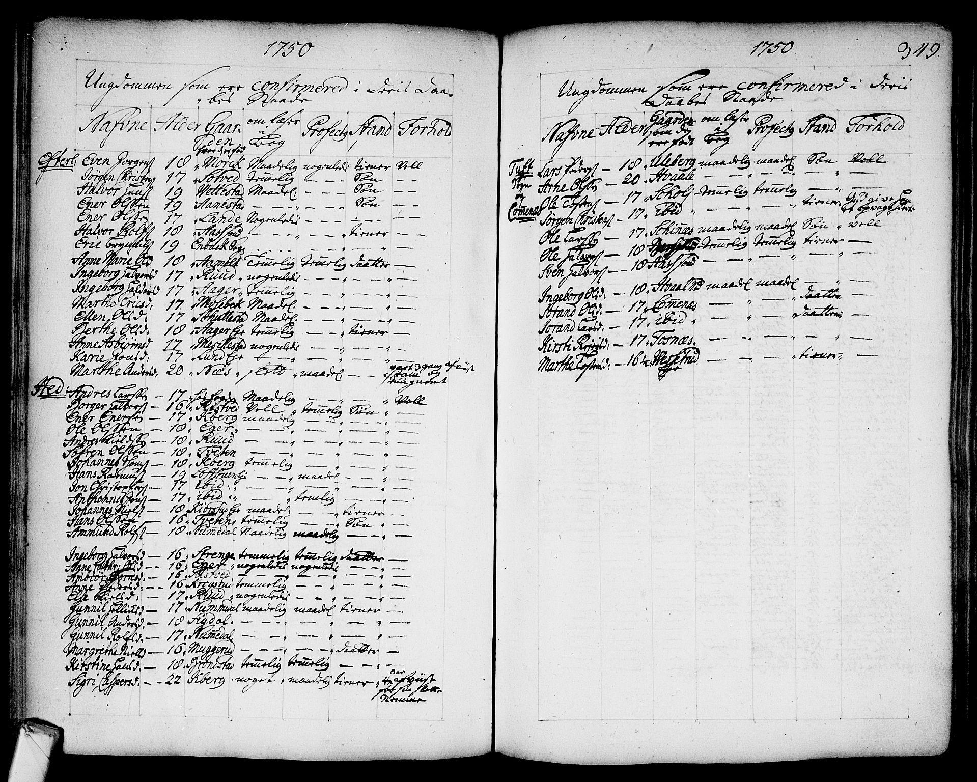 SAKO, Sandsvær kirkebøker, F/Fa/L0002a: Ministerialbok nr. I 2, 1725-1809, s. 349