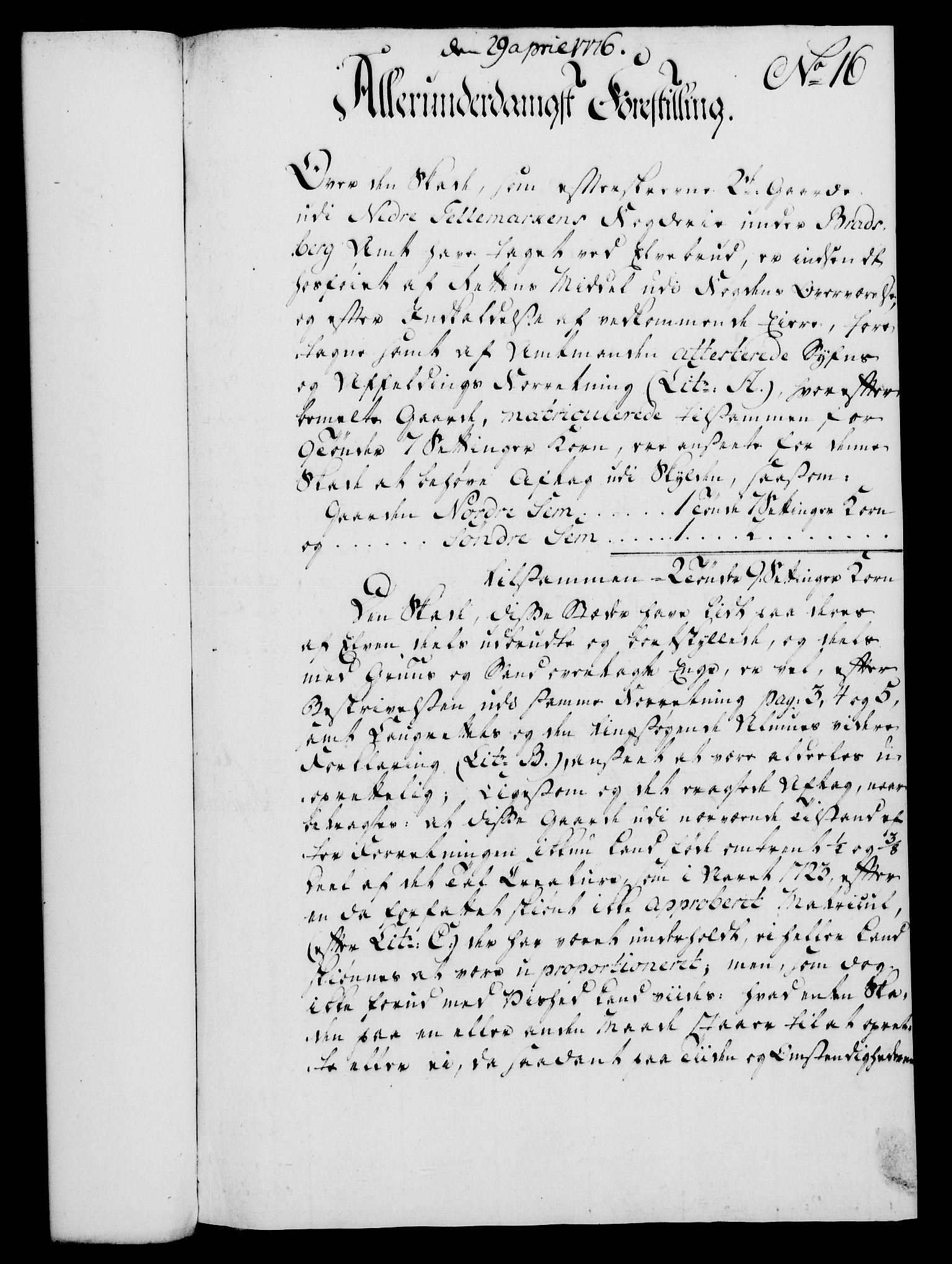 RA, Rentekammeret, Kammerkanselliet, G/Gf/Gfa/L0058: Norsk relasjons- og resolusjonsprotokoll (merket RK 52.58), 1776, s. 89