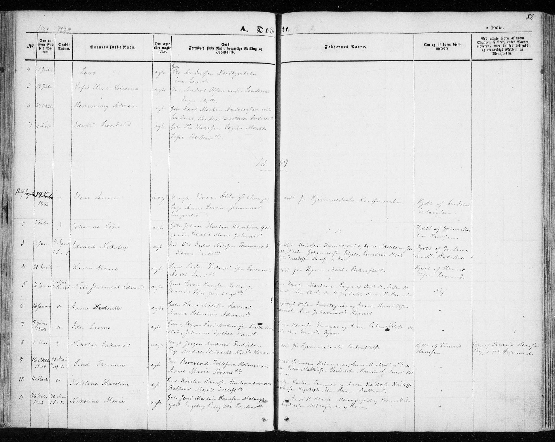 SATØ, Balsfjord sokneprestembete, Ministerialbok nr. 3, 1856-1870, s. 82