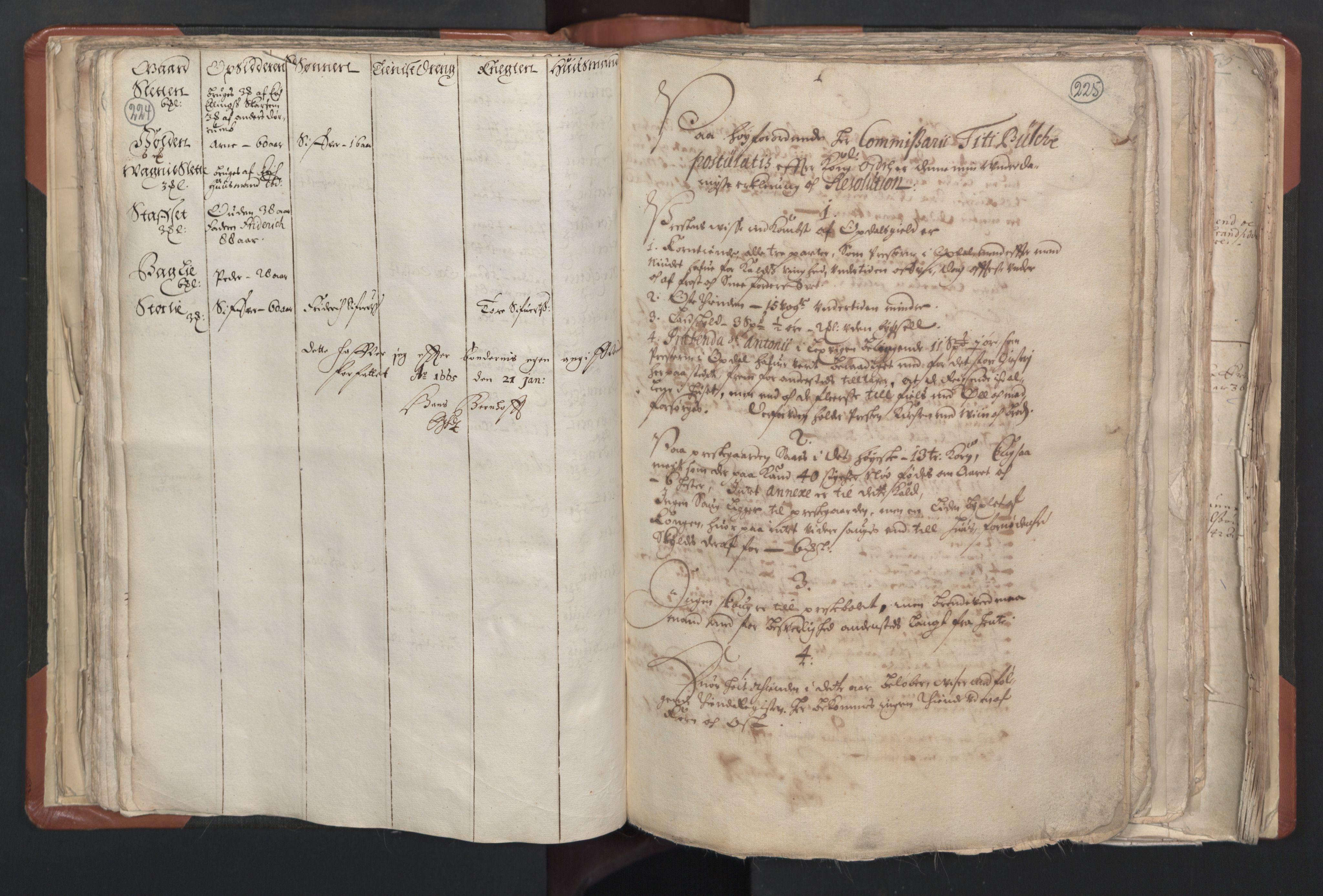 RA, Sogneprestenes manntall 1664-1666, nr. 31: Dalane prosti, 1664-1666, s. 224-225