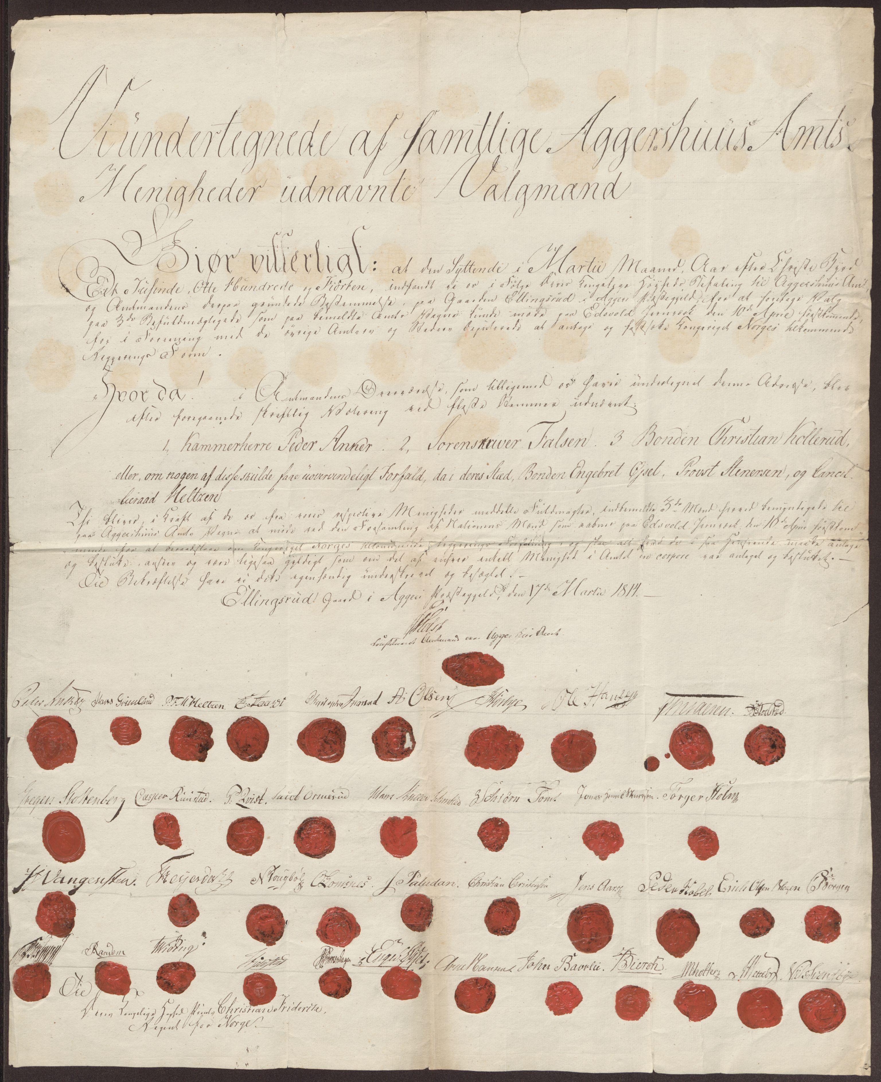 RA, Statsrådssekretariatet, D/Db/L0007: Fullmakter for Eidsvollsrepresentantene i 1814. , 1814, s. 172