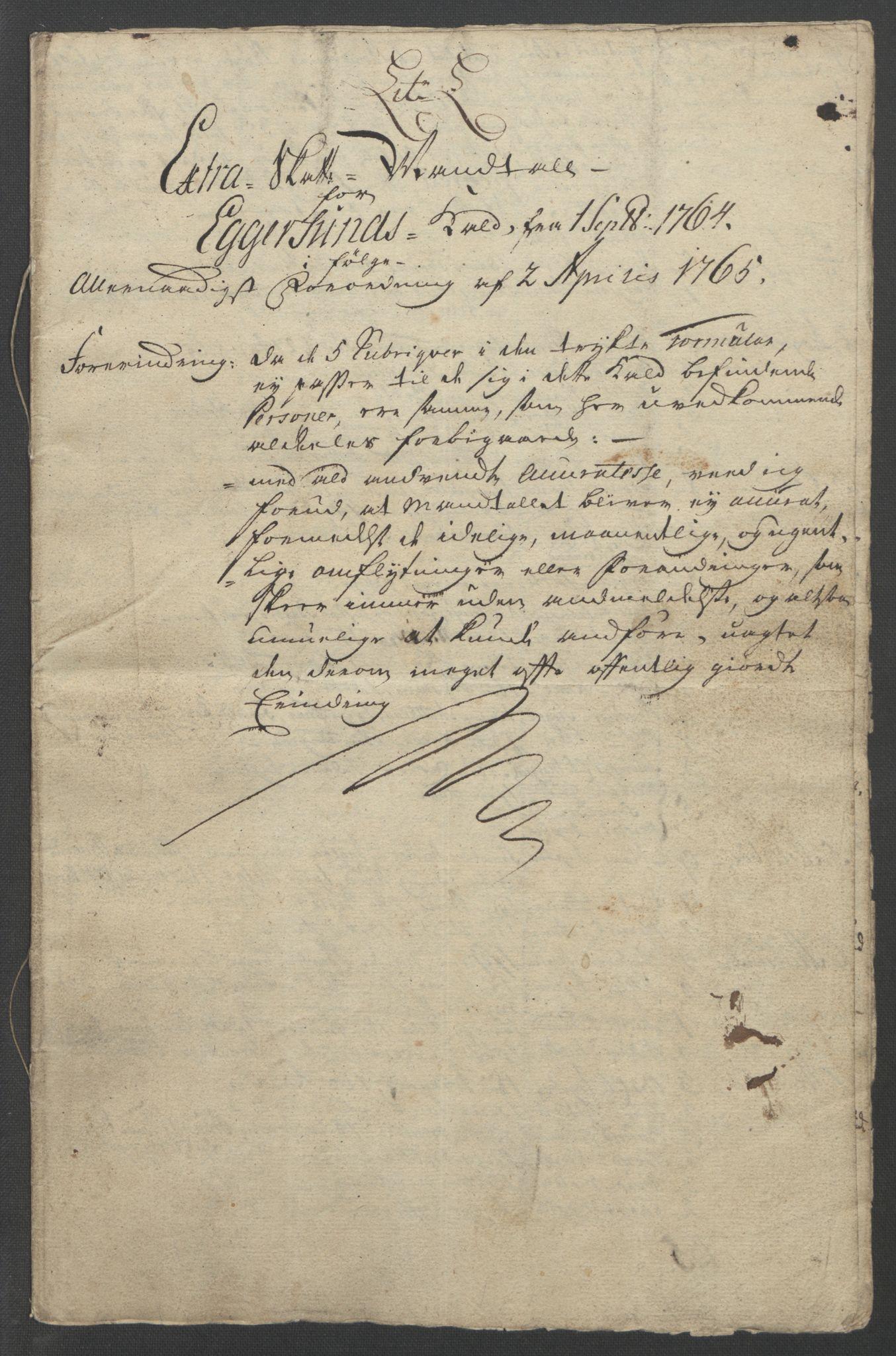 RA, Rentekammeret inntil 1814, Reviderte regnskaper, Fogderegnskap, R46/L2836: Ekstraskatten Jæren og Dalane, 1764-1766, s. 234
