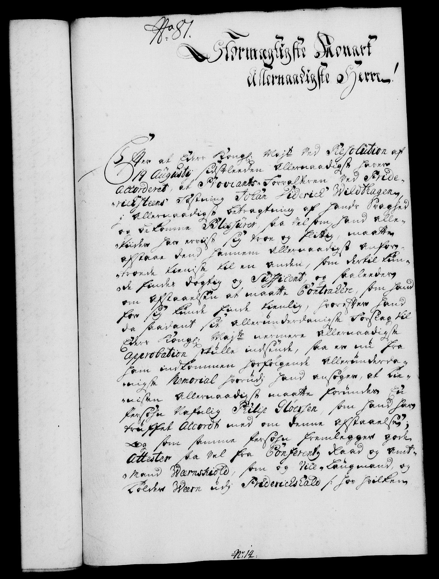 RA, Rentekammeret, Kammerkanselliet, G/Gf/Gfa/L0017: Norsk relasjons- og resolusjonsprotokoll (merket RK 52.17), 1734, s. 420