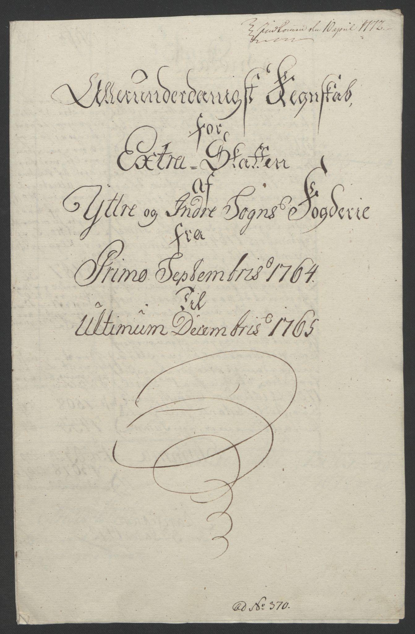RA, Rentekammeret inntil 1814, Realistisk ordnet avdeling, Ol/L0018: [Gg 10]: Ekstraskatten, 23.09.1762. Sogn, 1762-1772, s. 113