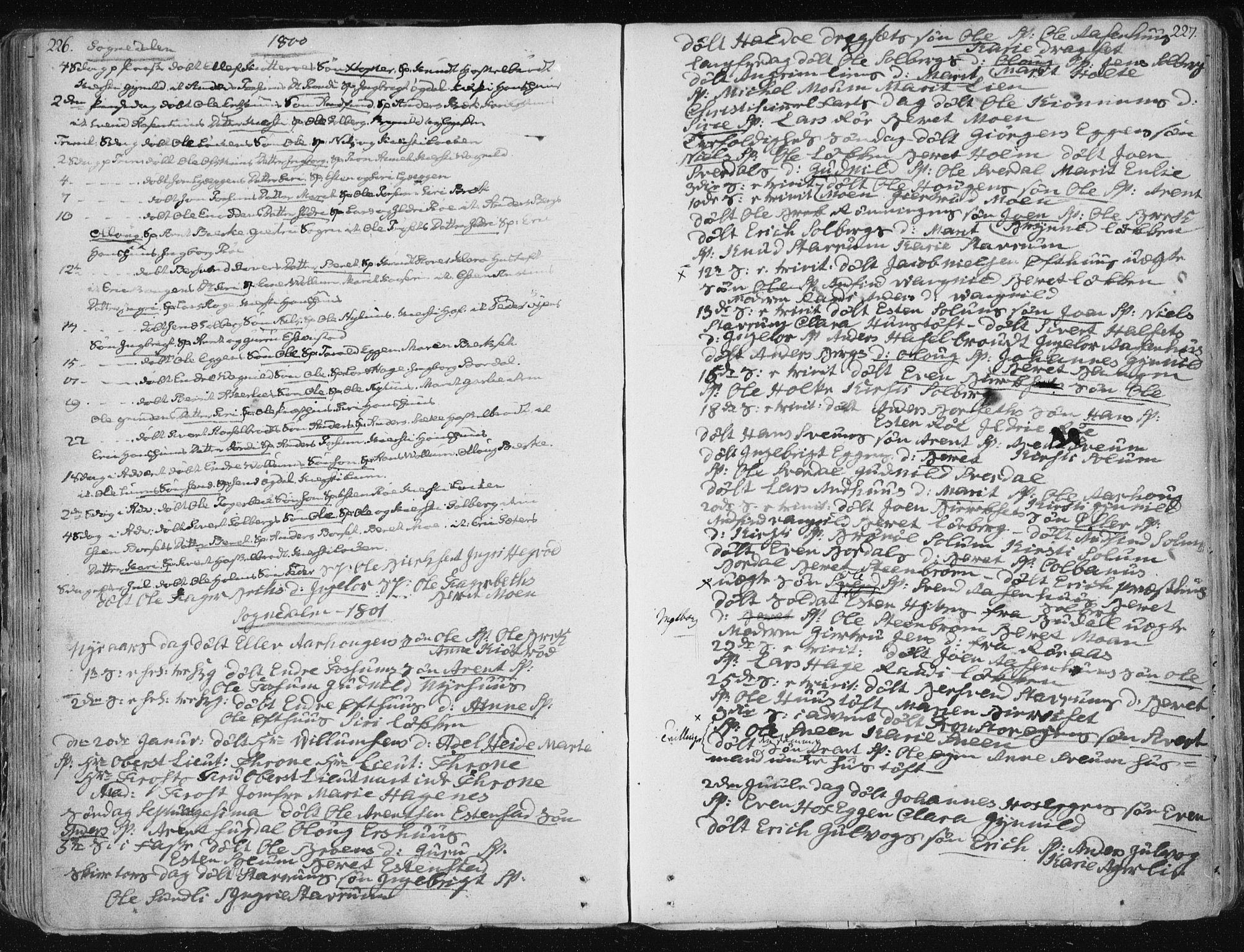 SAT, Ministerialprotokoller, klokkerbøker og fødselsregistre - Sør-Trøndelag, 687/L0992: Ministerialbok nr. 687A03 /1, 1788-1815, s. 226-227